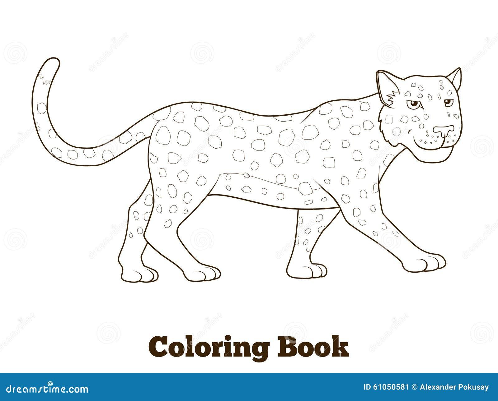 Animal Africain De La Savane De Leopard De Livre De Coloriage