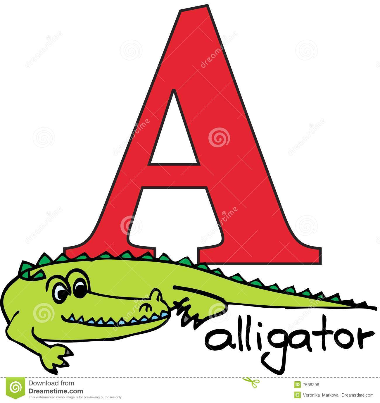 Animal Alphabet A (alligator) Royalty Free Stock Image - Image ...