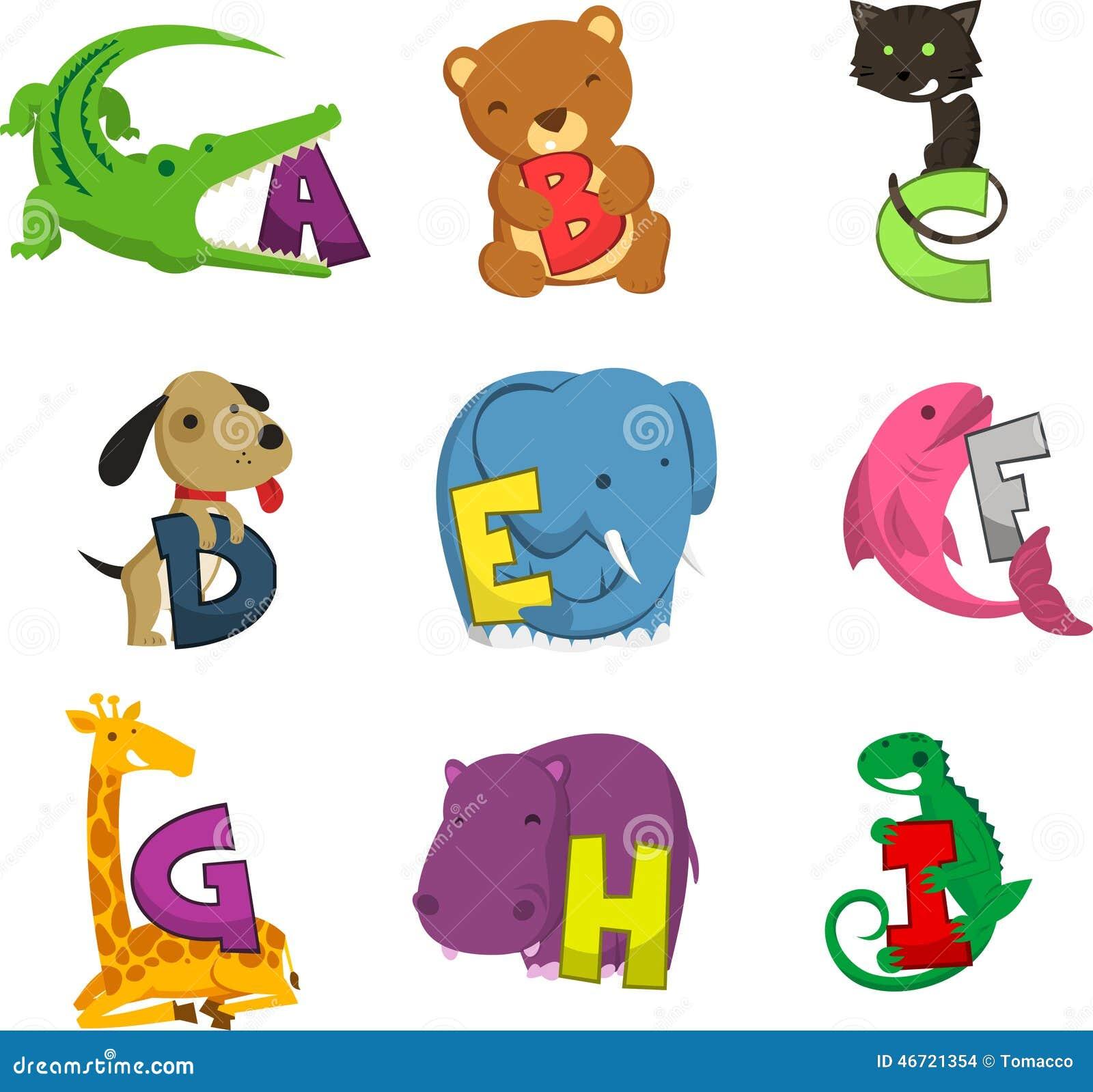 animal alphabet alphabetical list of animals stock illustration animal alphabet alphabetical list of animals