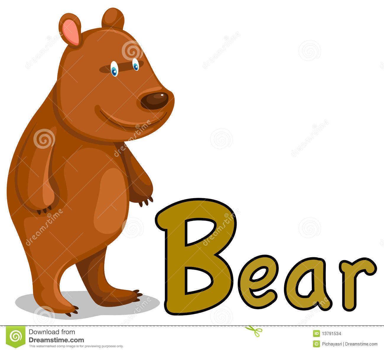 Animal Alphabet B For Bear Stock Images - Image: 13791534