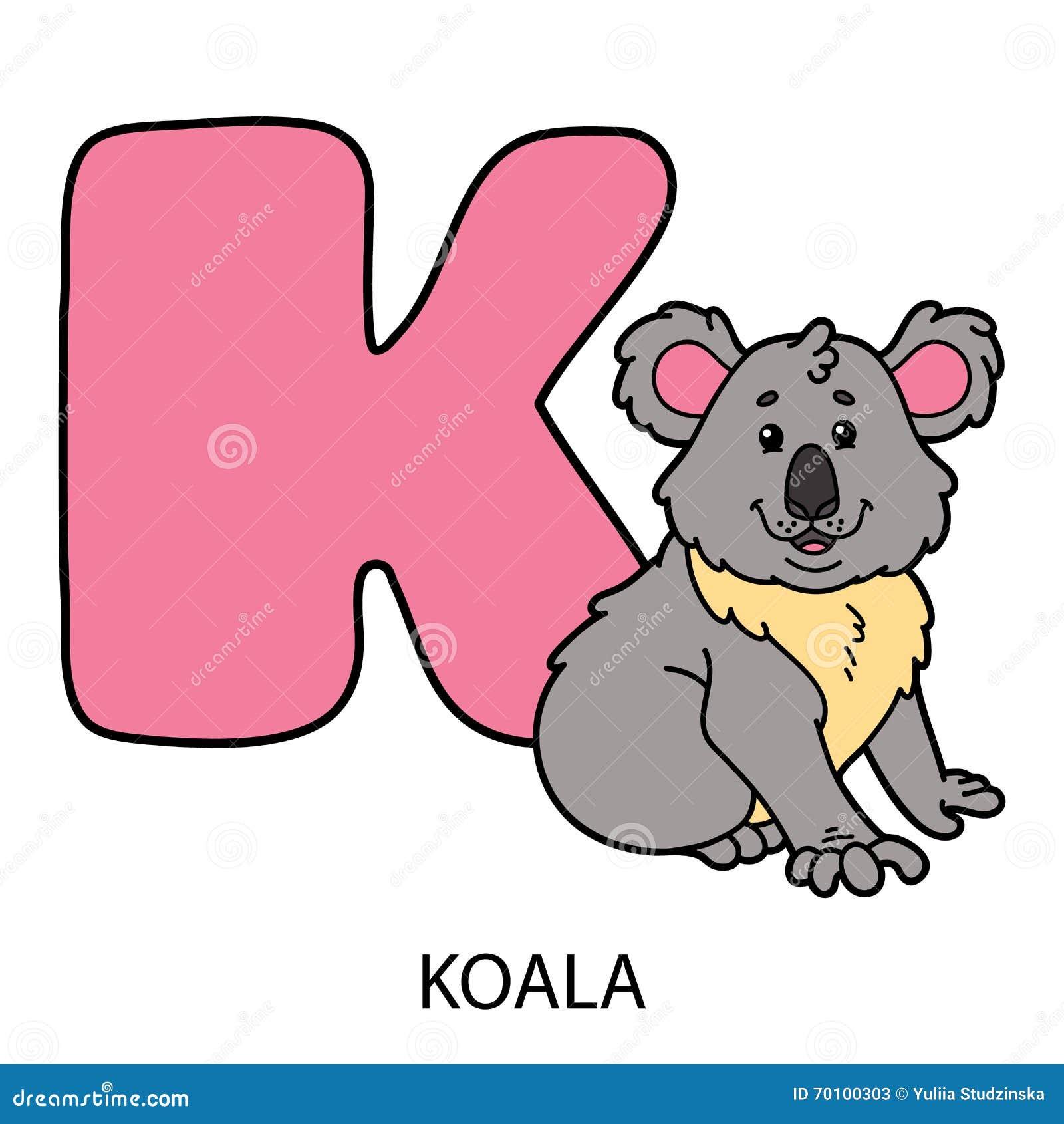 Animal alphabet card. stock vector. Illustration of line - 70100303