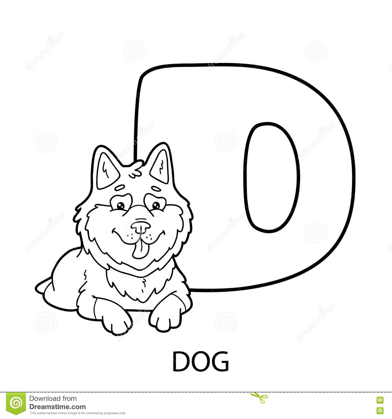 Husky coloring page stock vector. Illustration of childlike - 104995581