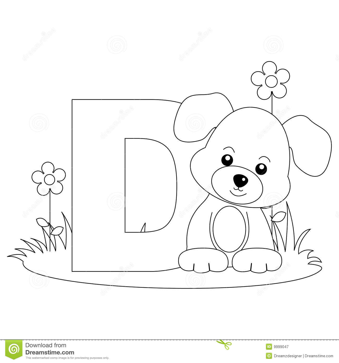 Royalty Free Stock Photo Download Animal Alphabet D Coloring Page