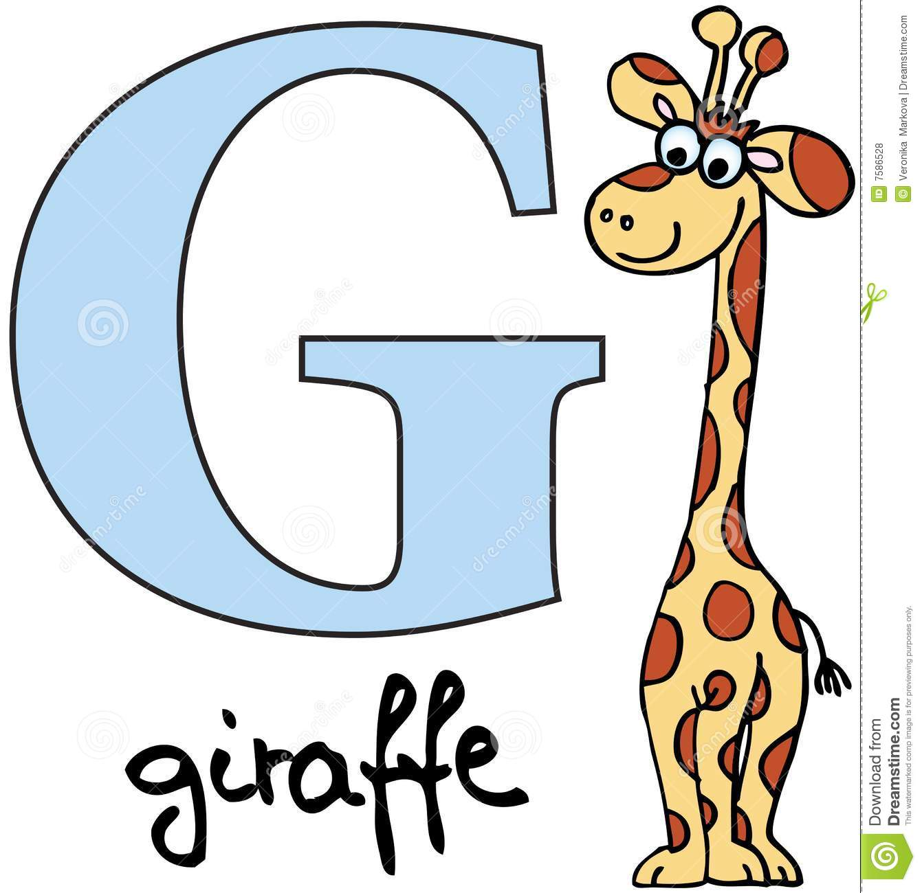Animal Alphabet G (giraffe) Royalty Free Stock Photos - Image: 7586528