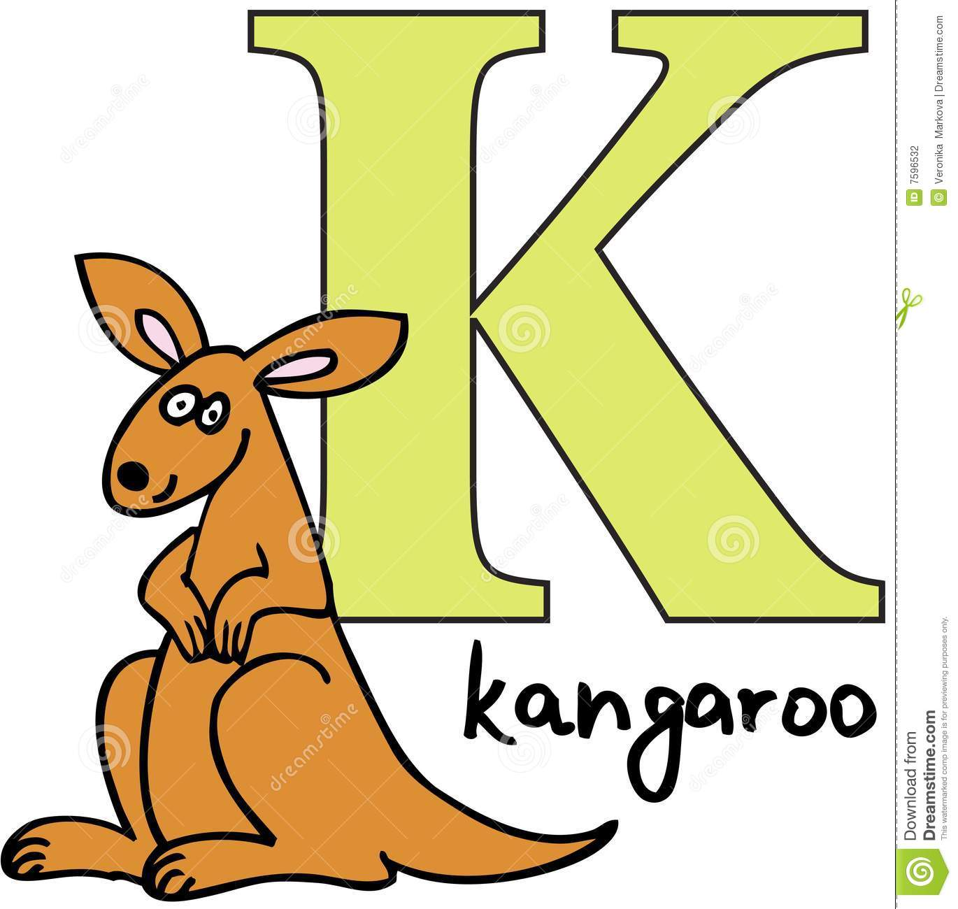 animal alphabet k kangaroo