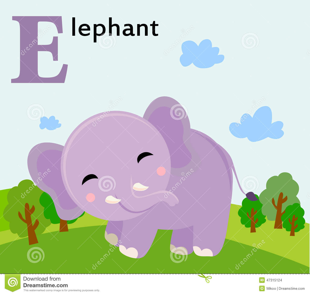 Stock Illustration Animal Alphabet Kids E Elephant Illustration Image47315124 on Letter Z Pictures For Kids