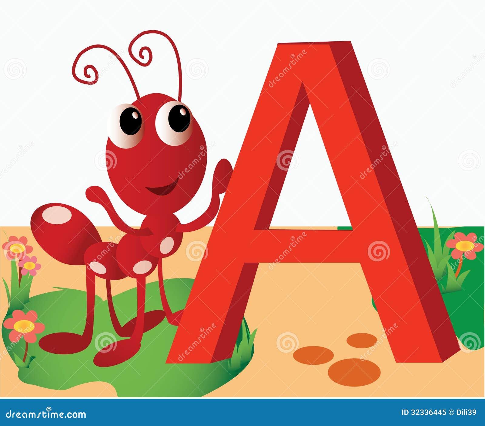 A Alphabet Images Animal alphabet A stoc...