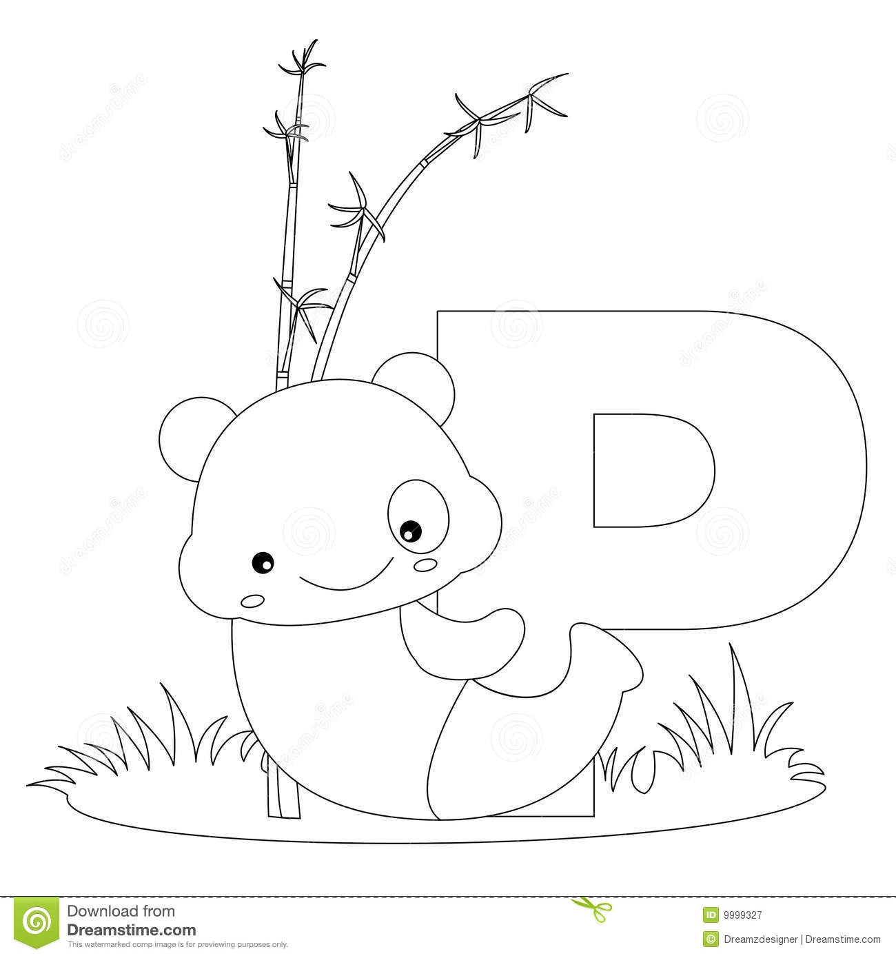 Animal alphabet p coloring page