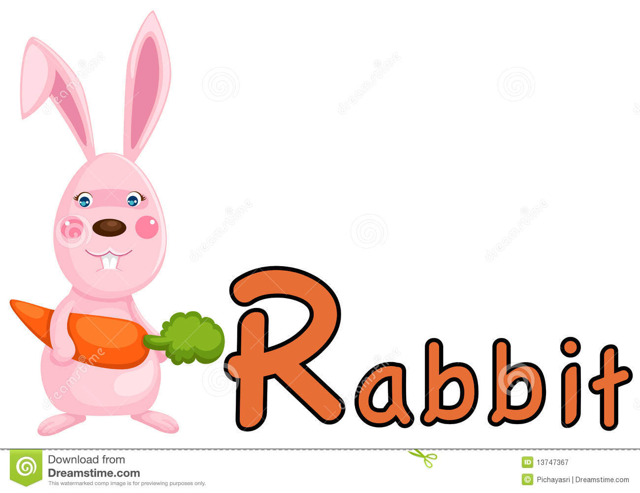 R Is For Rabbit Animal alphabet R for rabbit