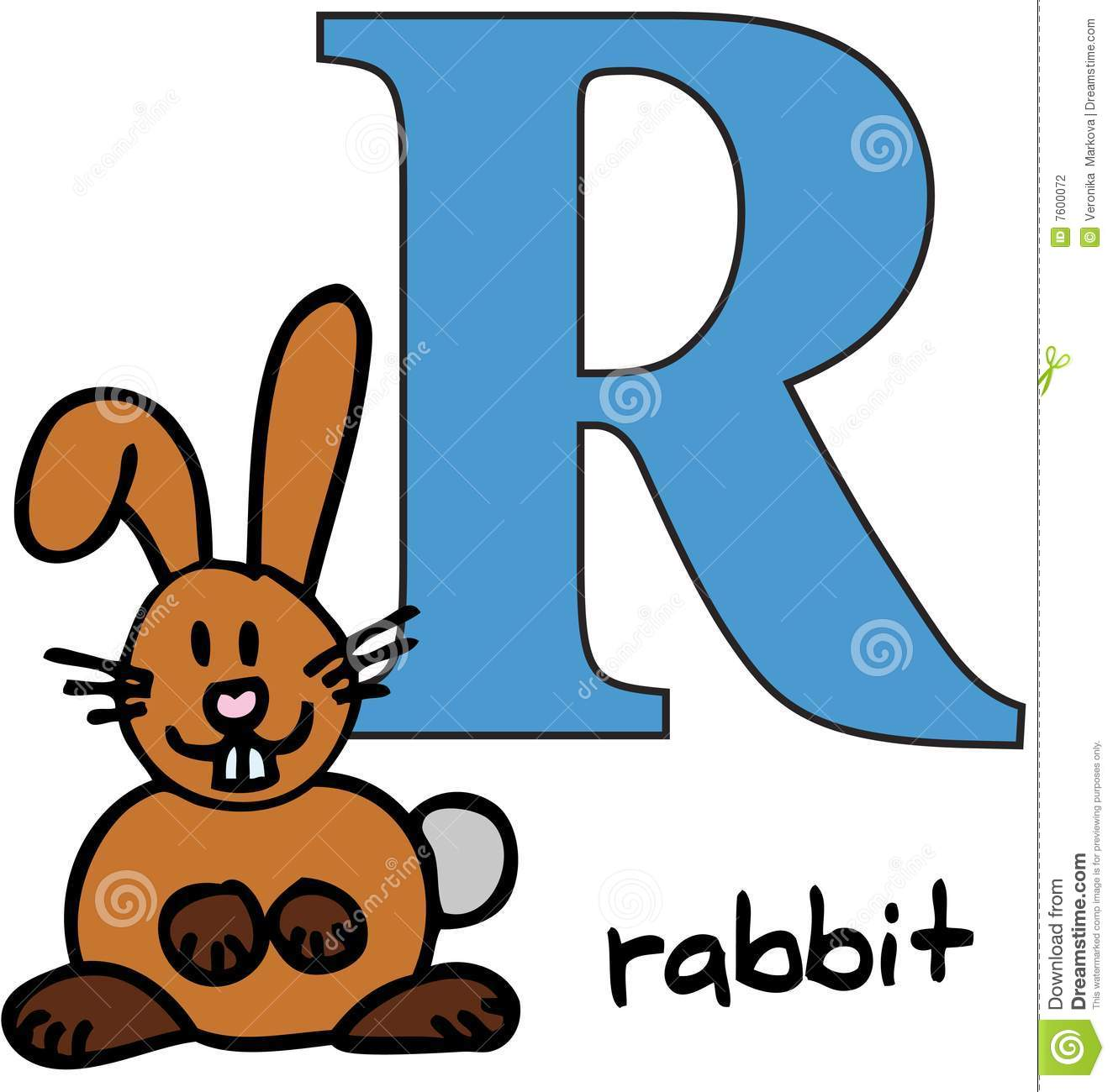 R Alphabet Images Animal alphabet R (rab...