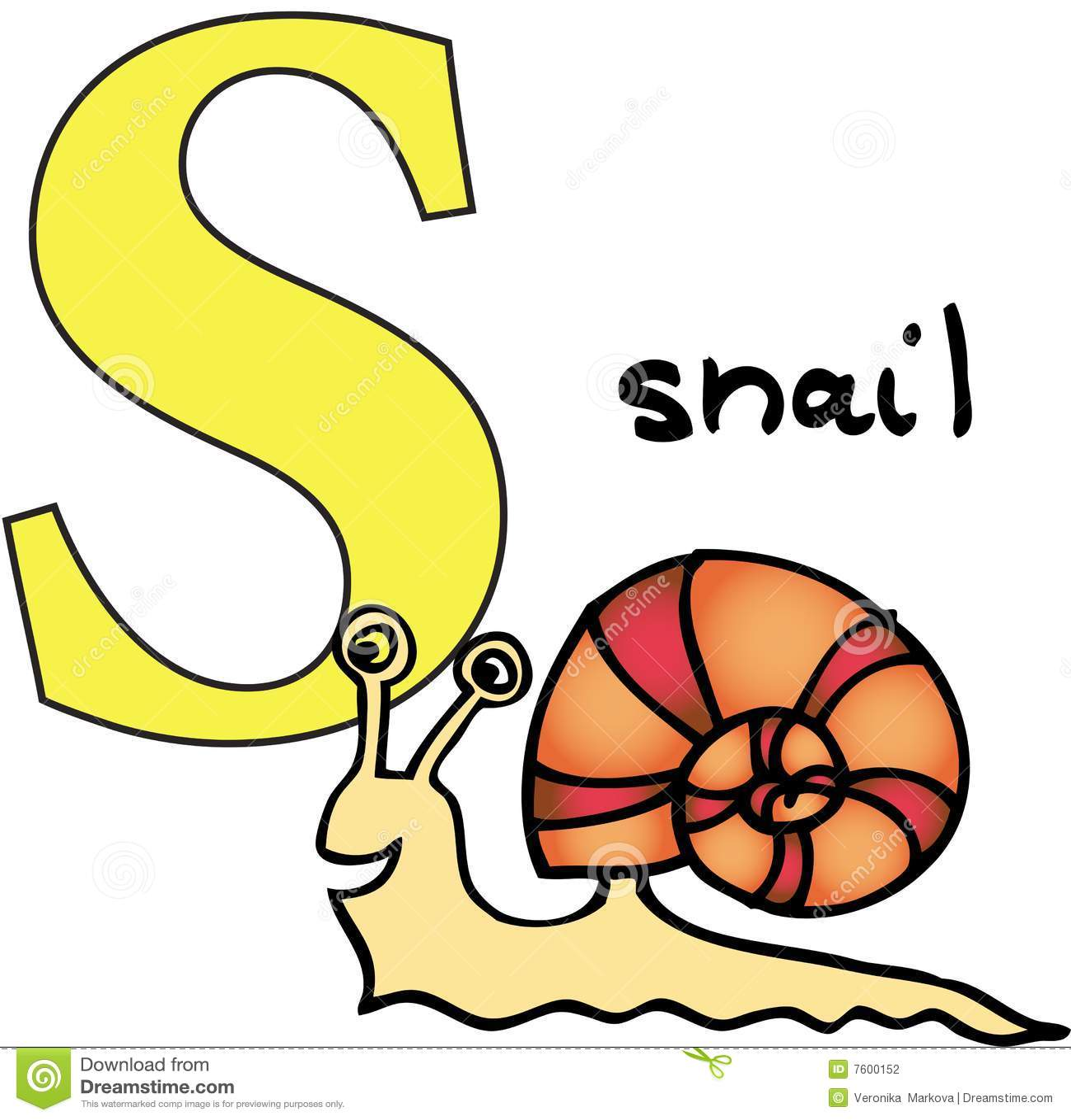 Stock Photography Animal Alphabet S Snail Image7600152 on Letter Z Printables