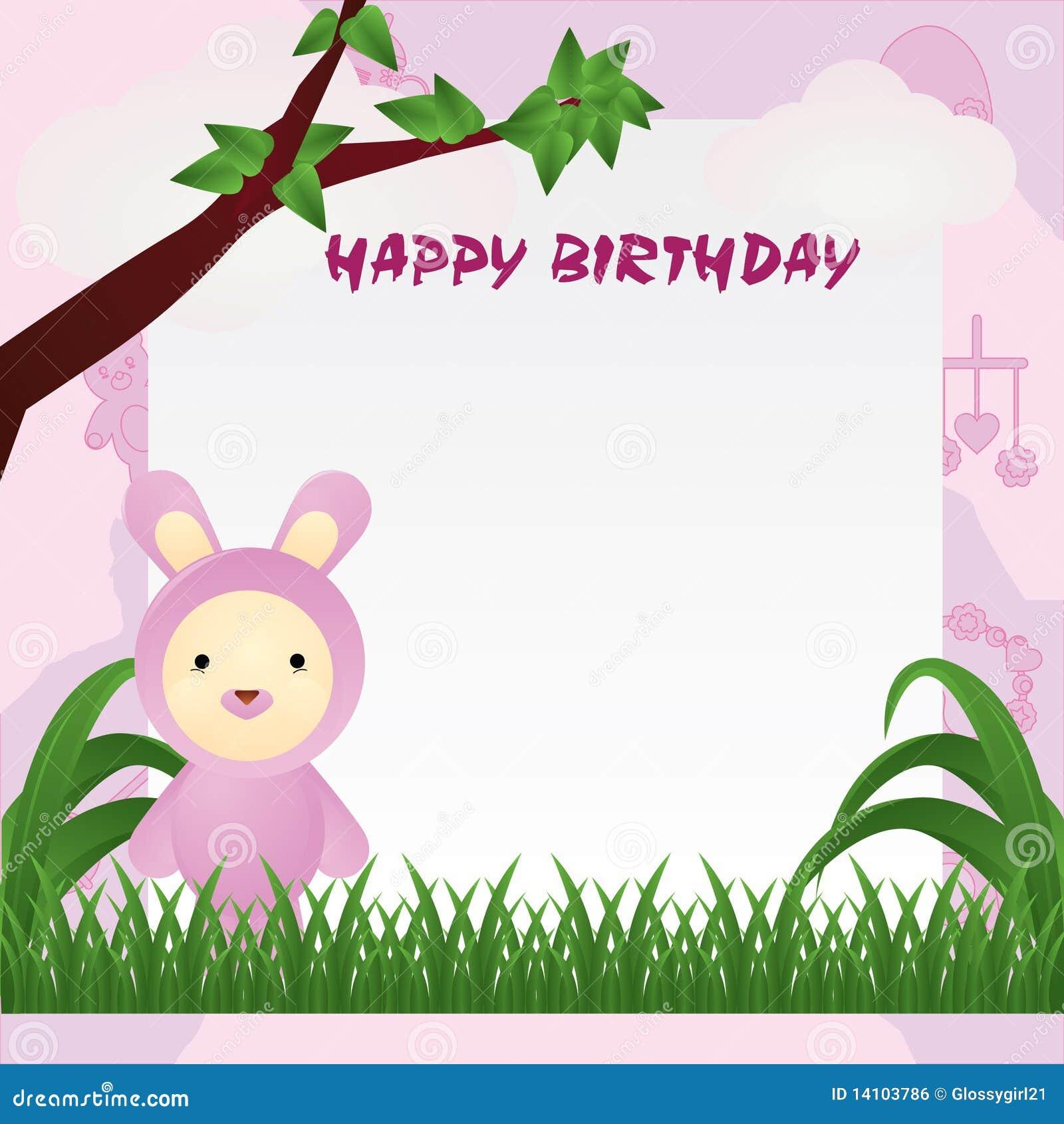Animal Birthday Card Royalty Free Image Image 14103786 – Birthday Cards Backgrounds