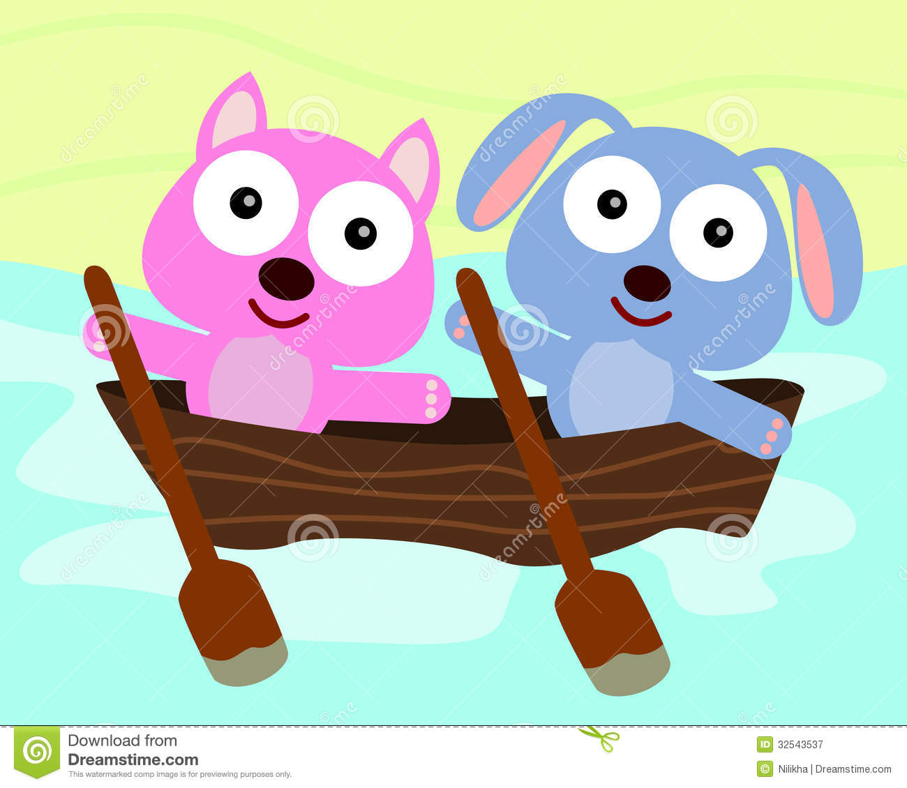 Animal Boat Ride Royalty Free Stock Photography - Image: 32543537