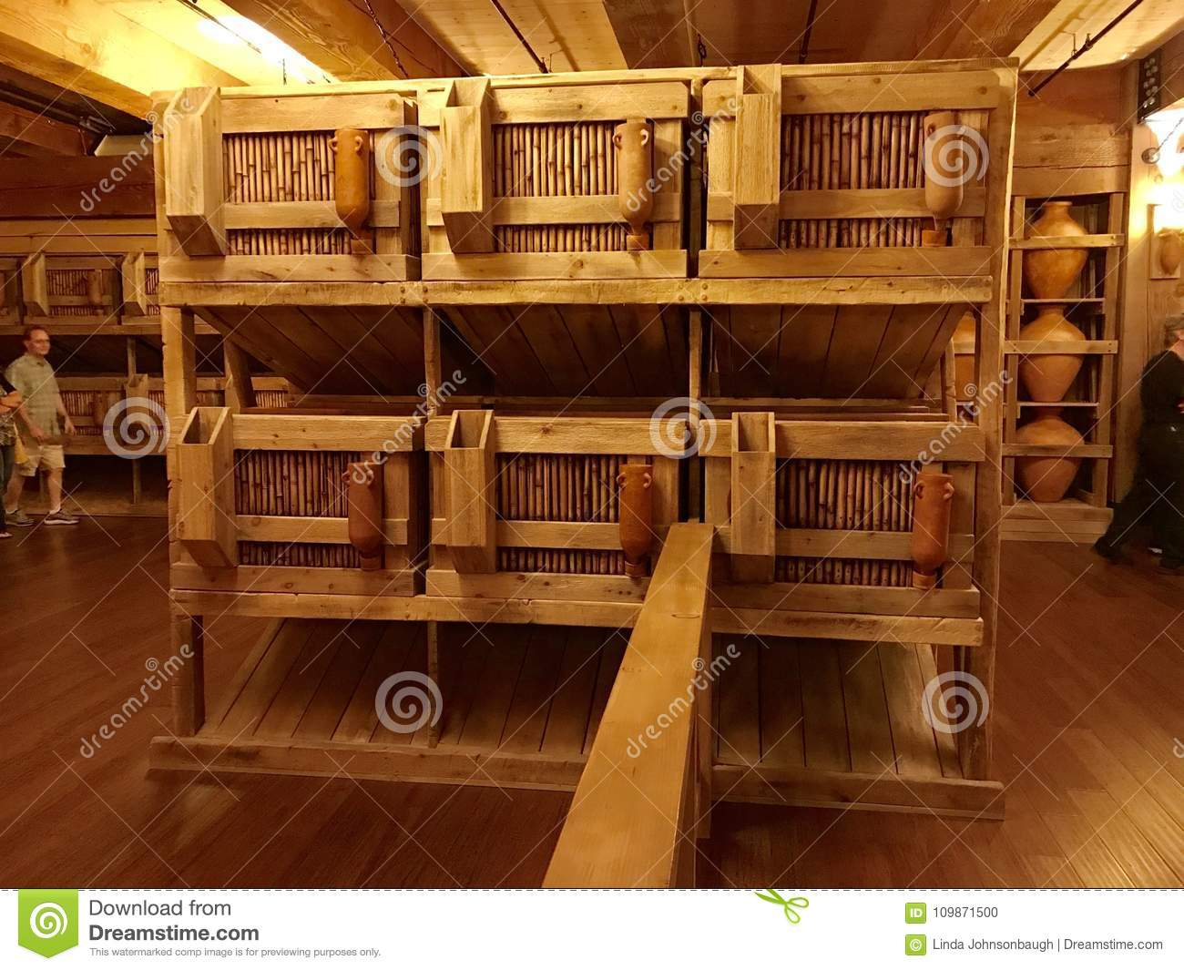 Animal Cages Inside Noahs Ark Replica At The Ark Encounter