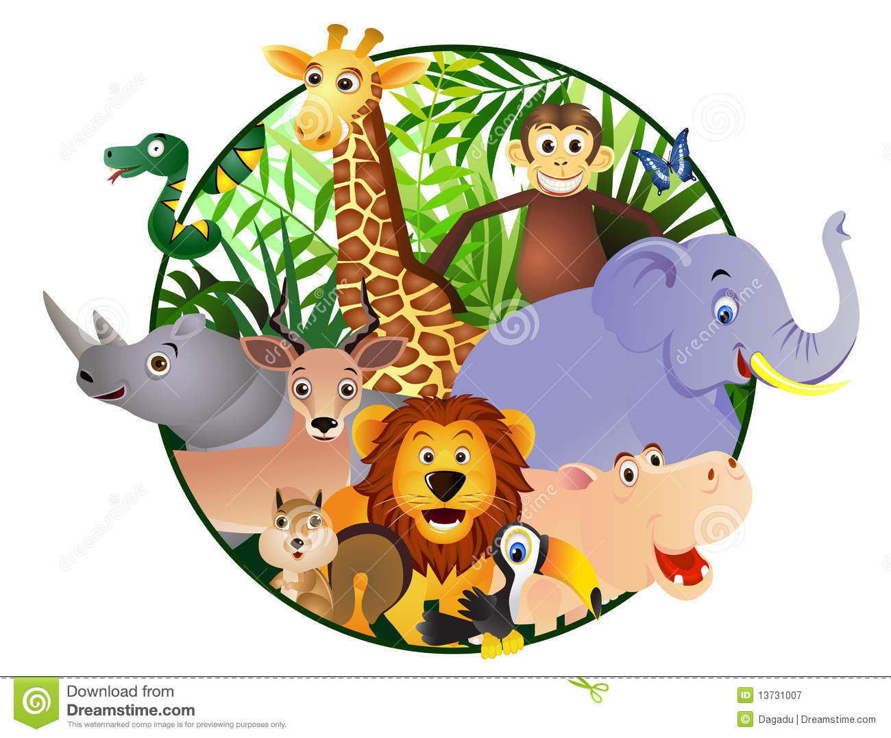 Royalty Free Stock Photography Animal Cartoon In The
