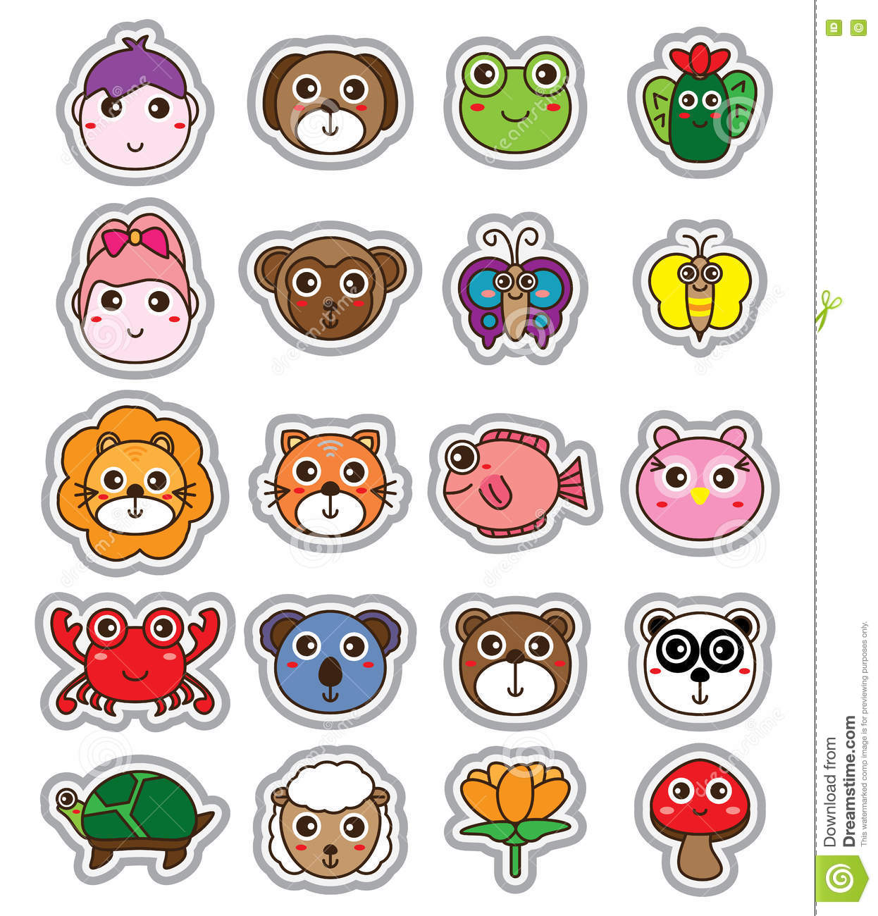 cartoon mushroom stickers  label cartoon vector fungi clipart gif Book Clip Art