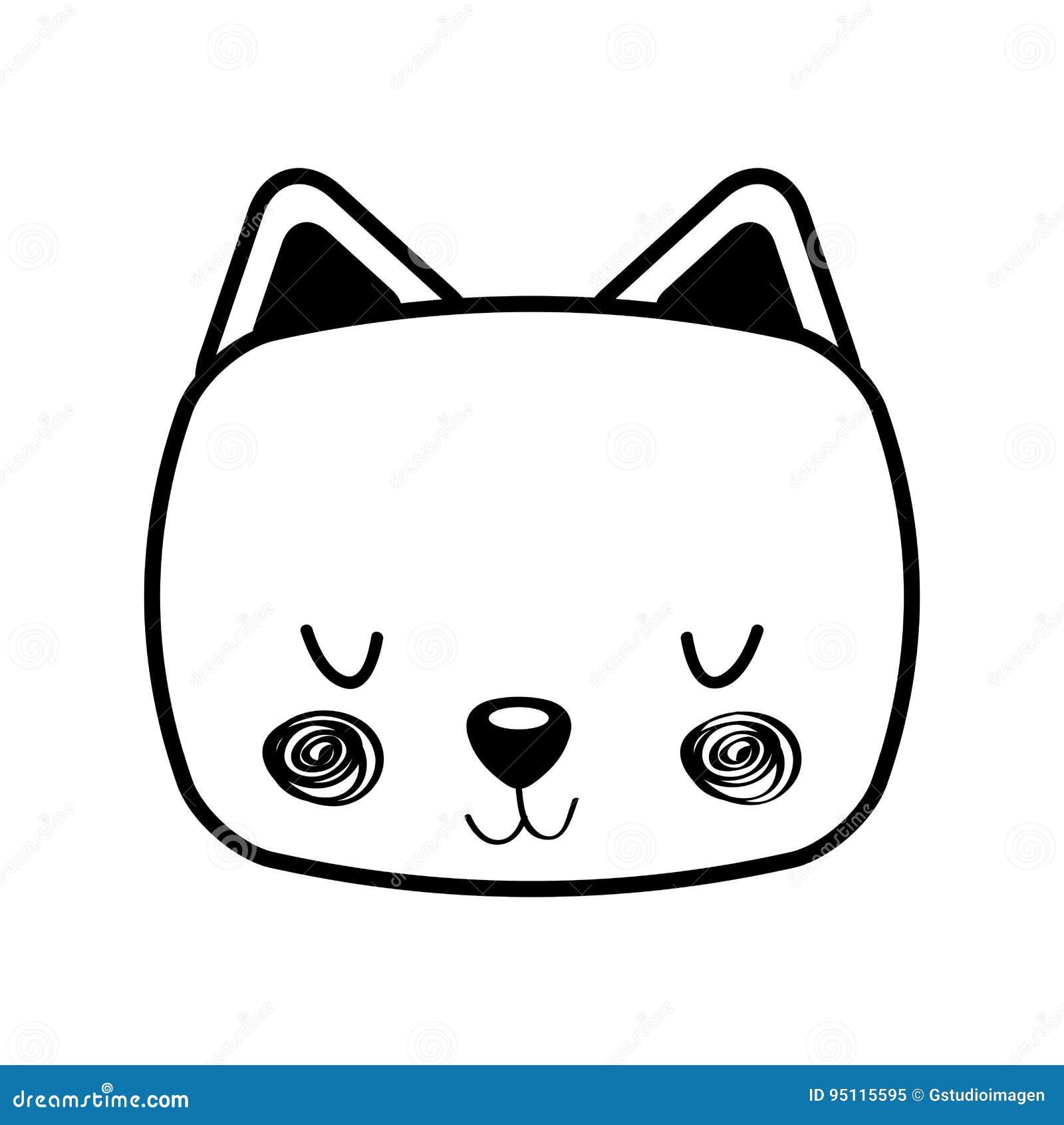 Animal Cat Cartoon Stock Vector Illustration Of Design 95115595