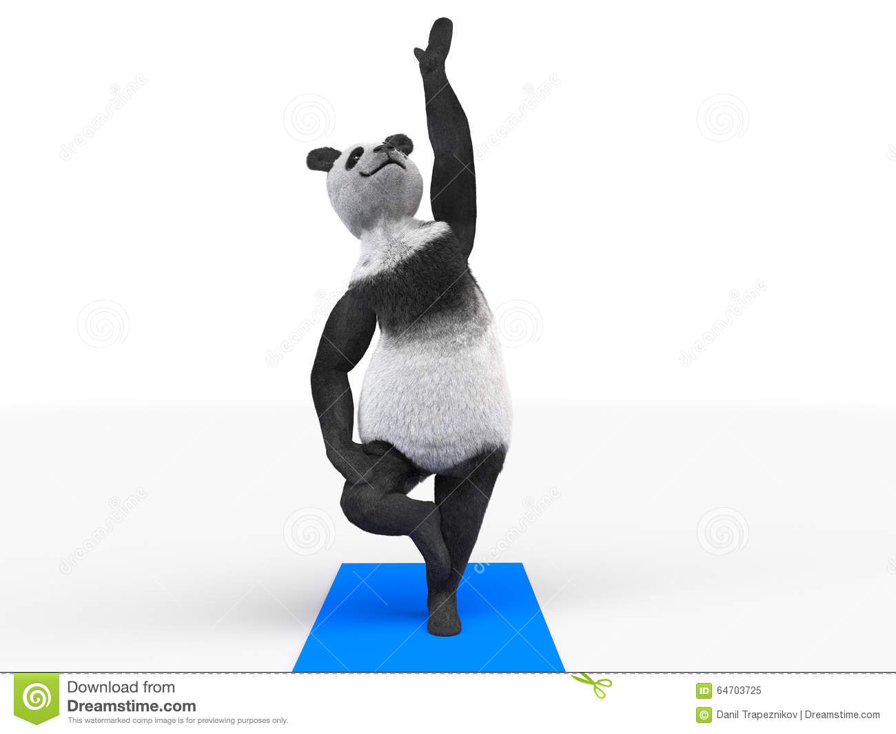 Panda Standing Yoga Stock Illustration Image Of Training