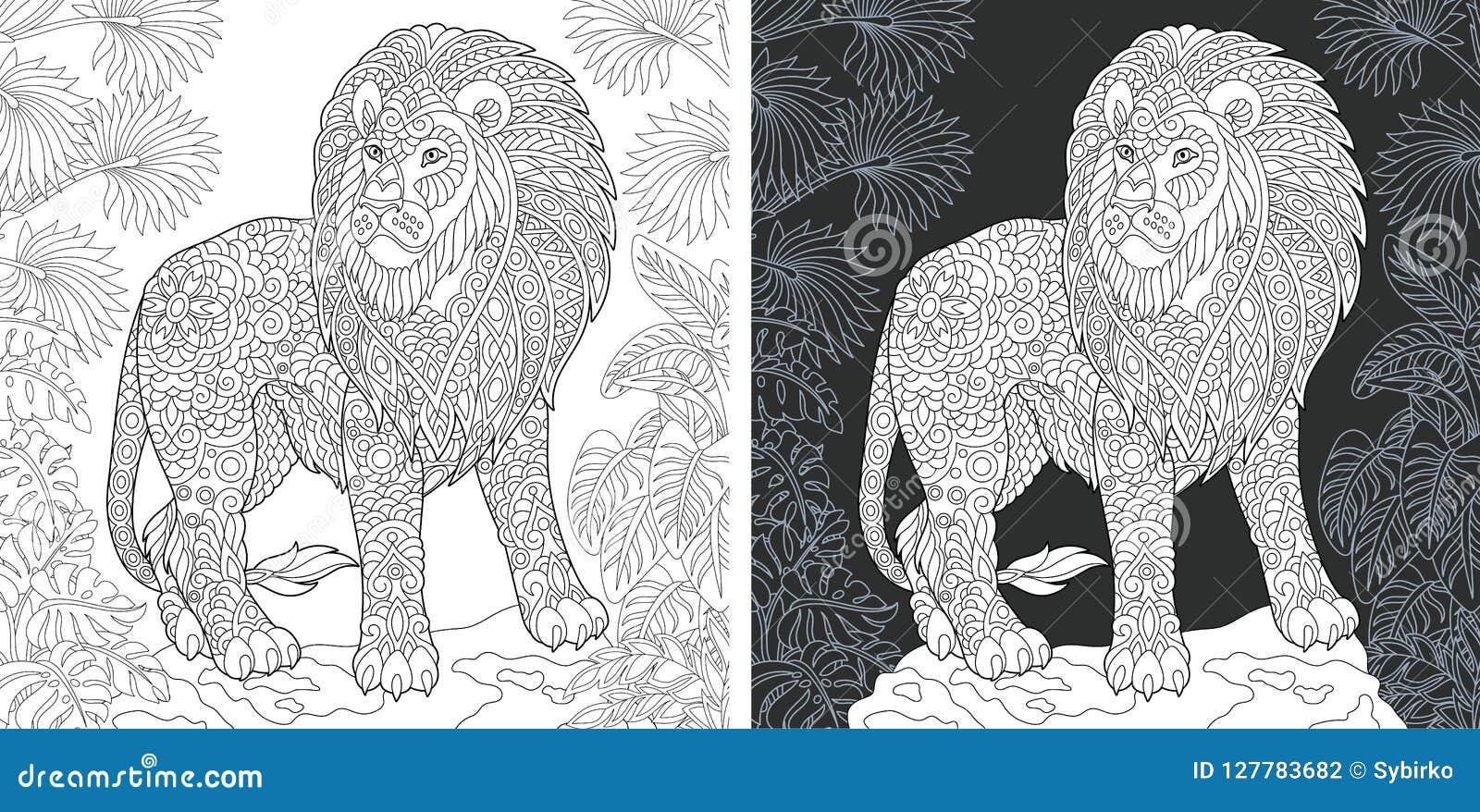 Zen, Tiger, Animal Art Page To Color, Zentangle Animal, Zentangle ... | 878x1600