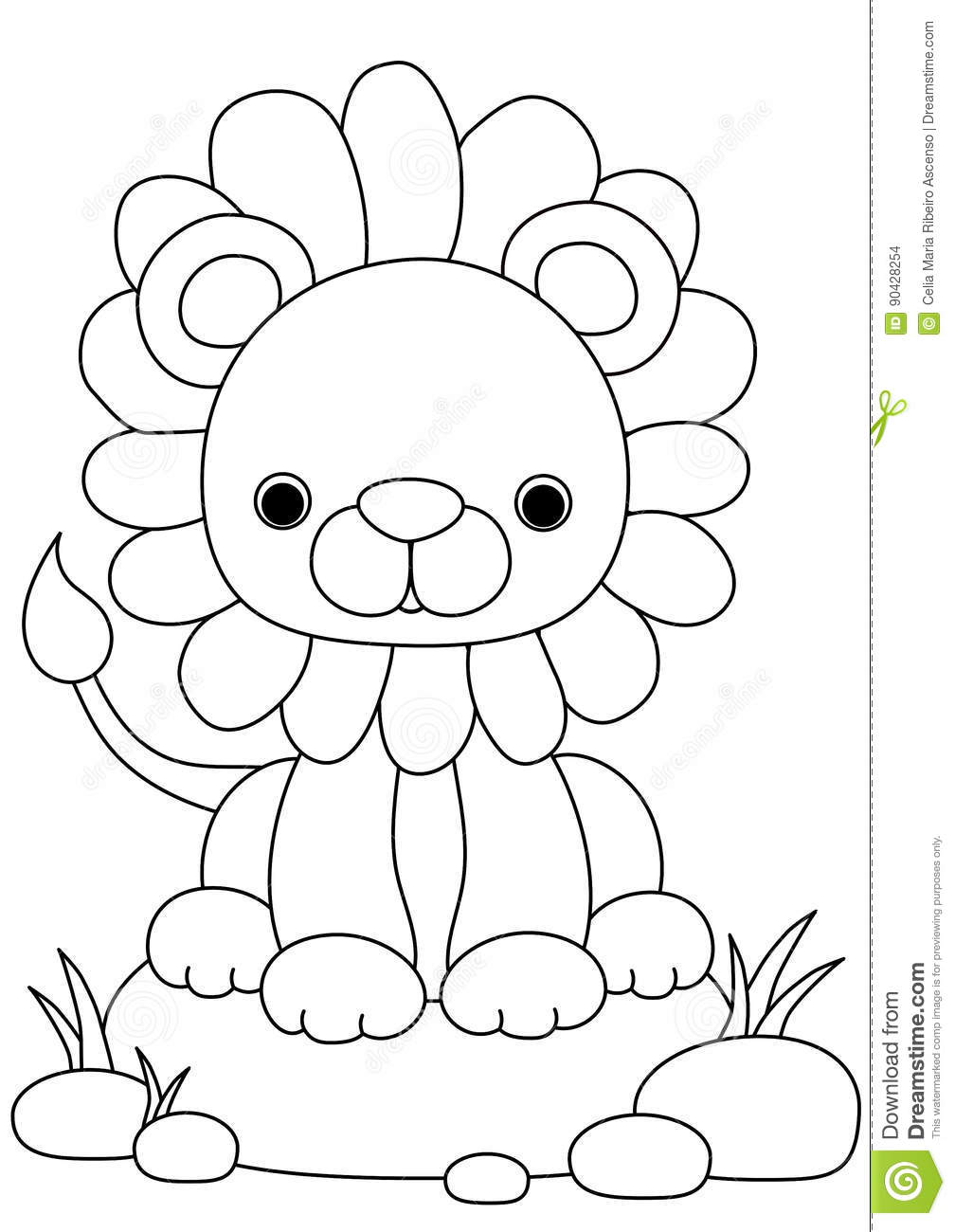animal coloring page lion stock illustration illustration of colour