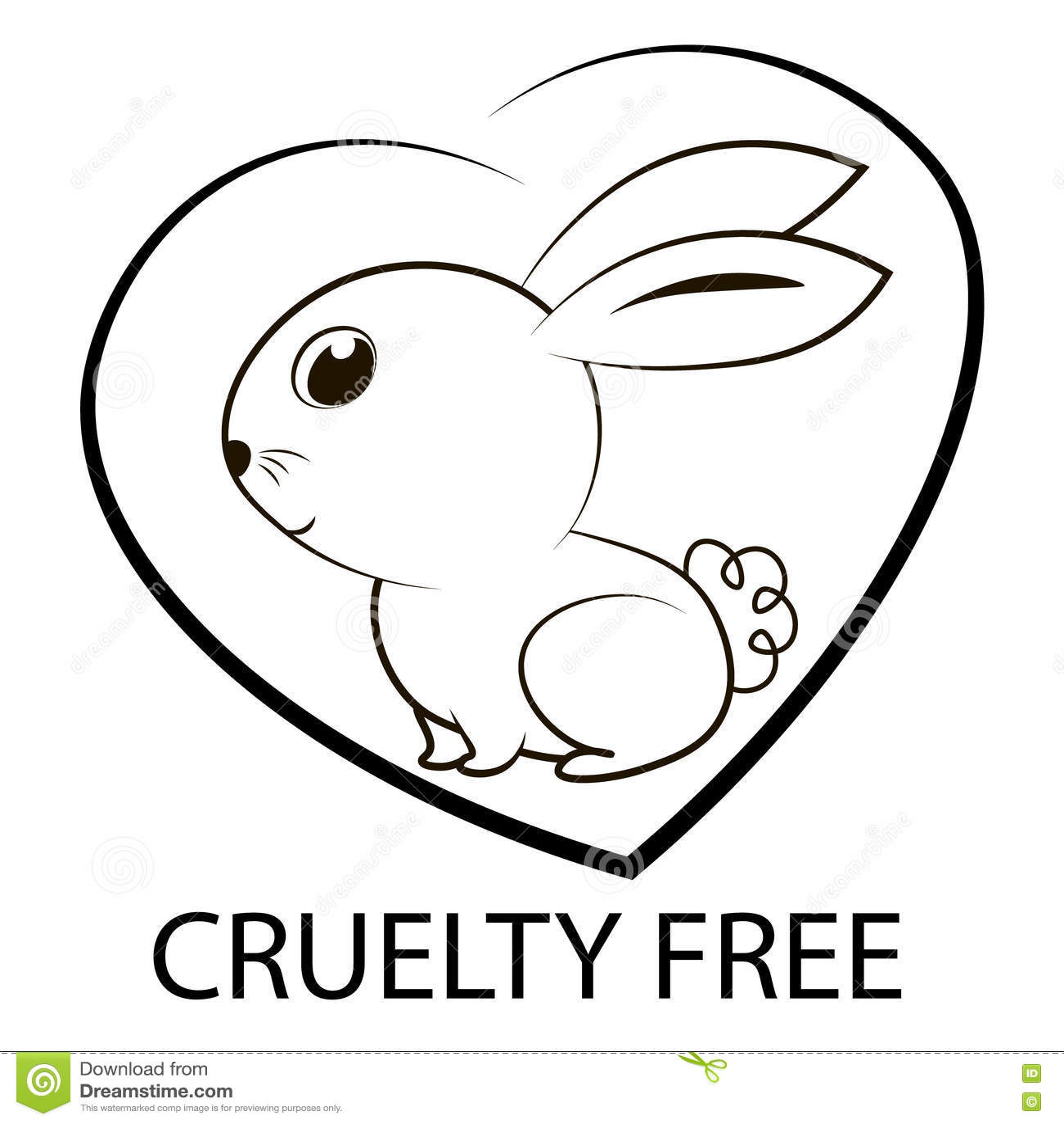 Animal Cruelty Free Icon Design Stock Illustration Illustration