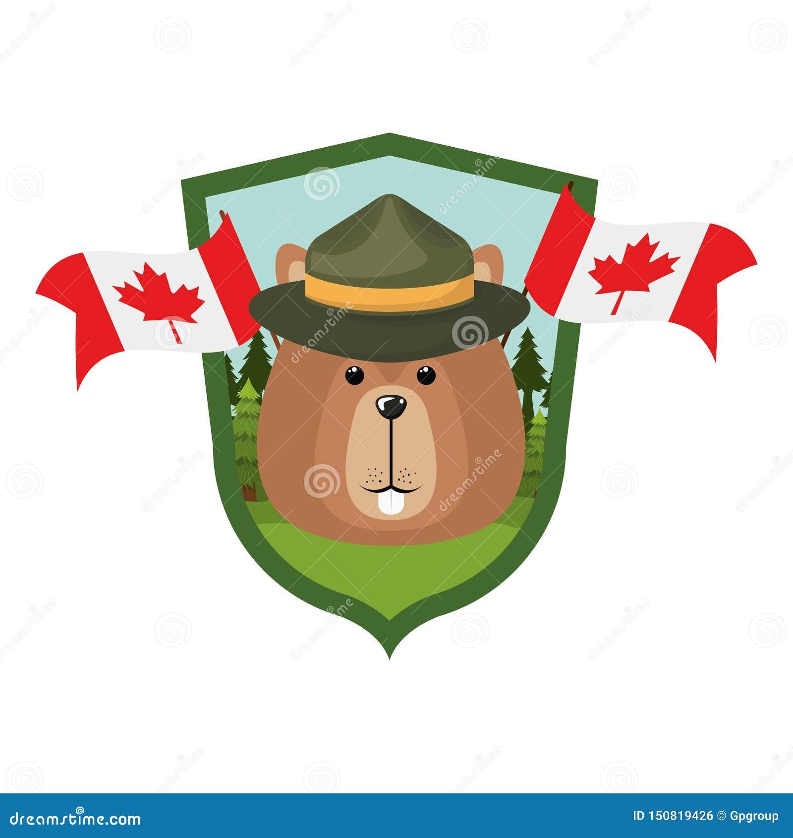 Animal de forêt de castor de conception du Canada