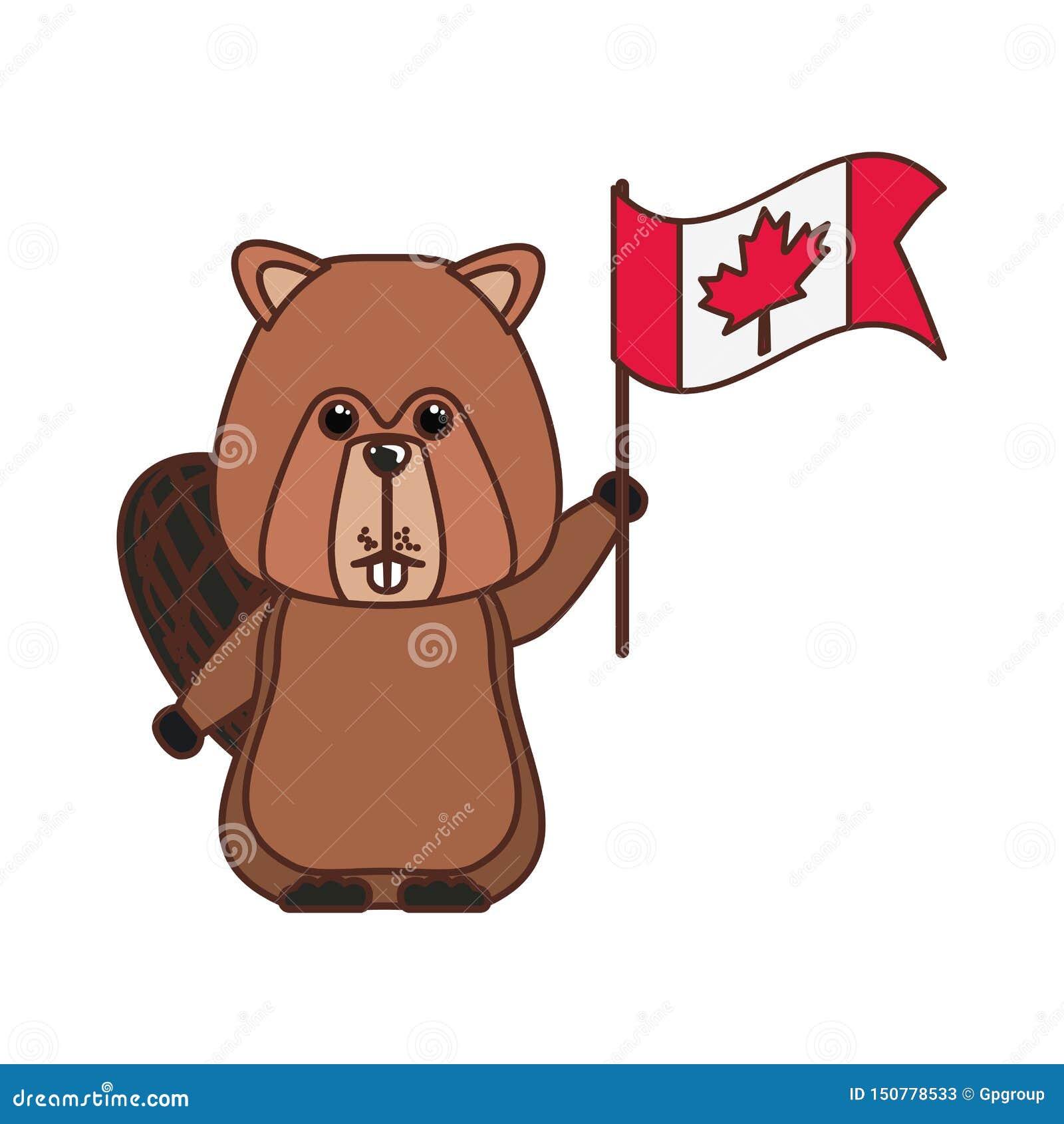 Animal del bosque del castor del diseño de Canadá