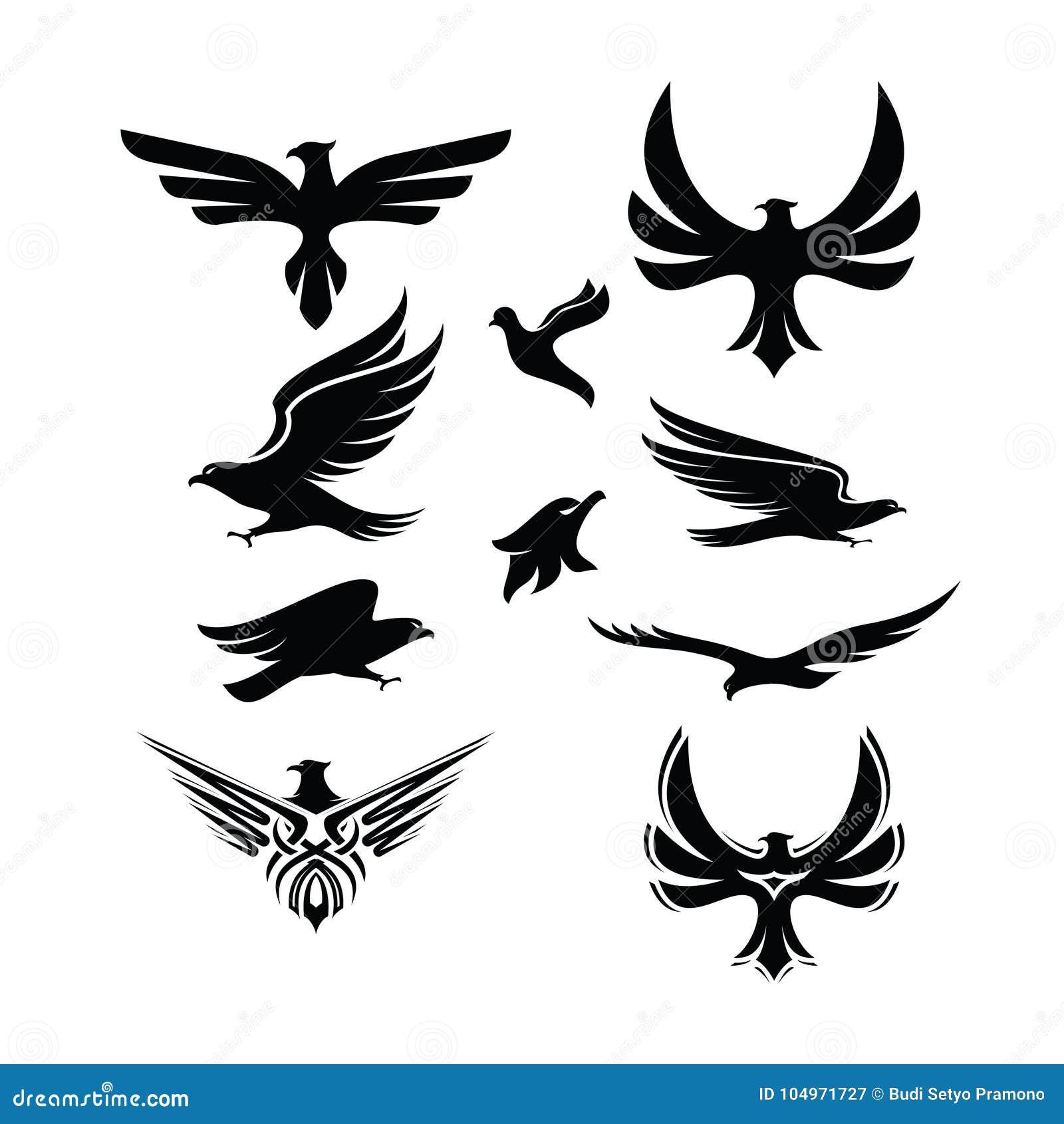 eagle logo vector stock vector illustration of black 104971727