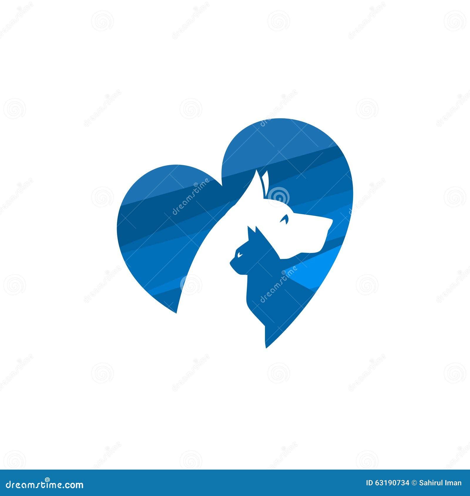 Animal doméstico y veterinario Logo, grupo animal del amante