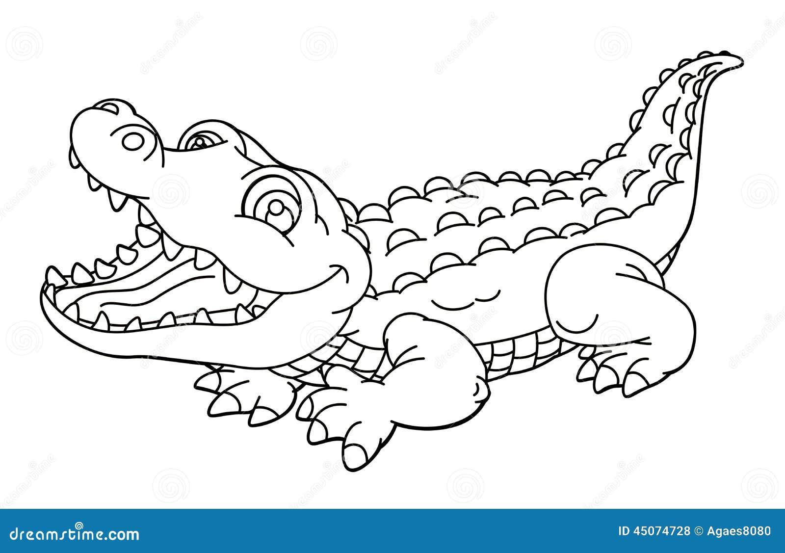 Animal Dos Desenhos Animados Jacar Caricatura