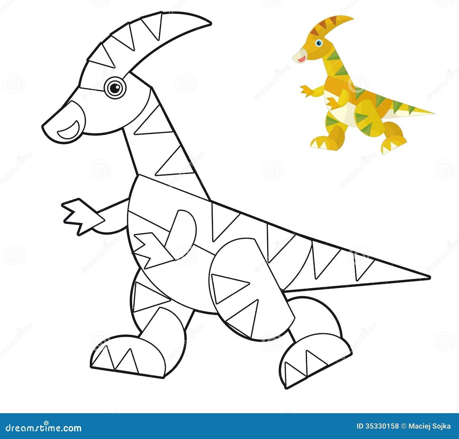 Animal dos desenhos animados - página da coloração - ilustração para as crianças