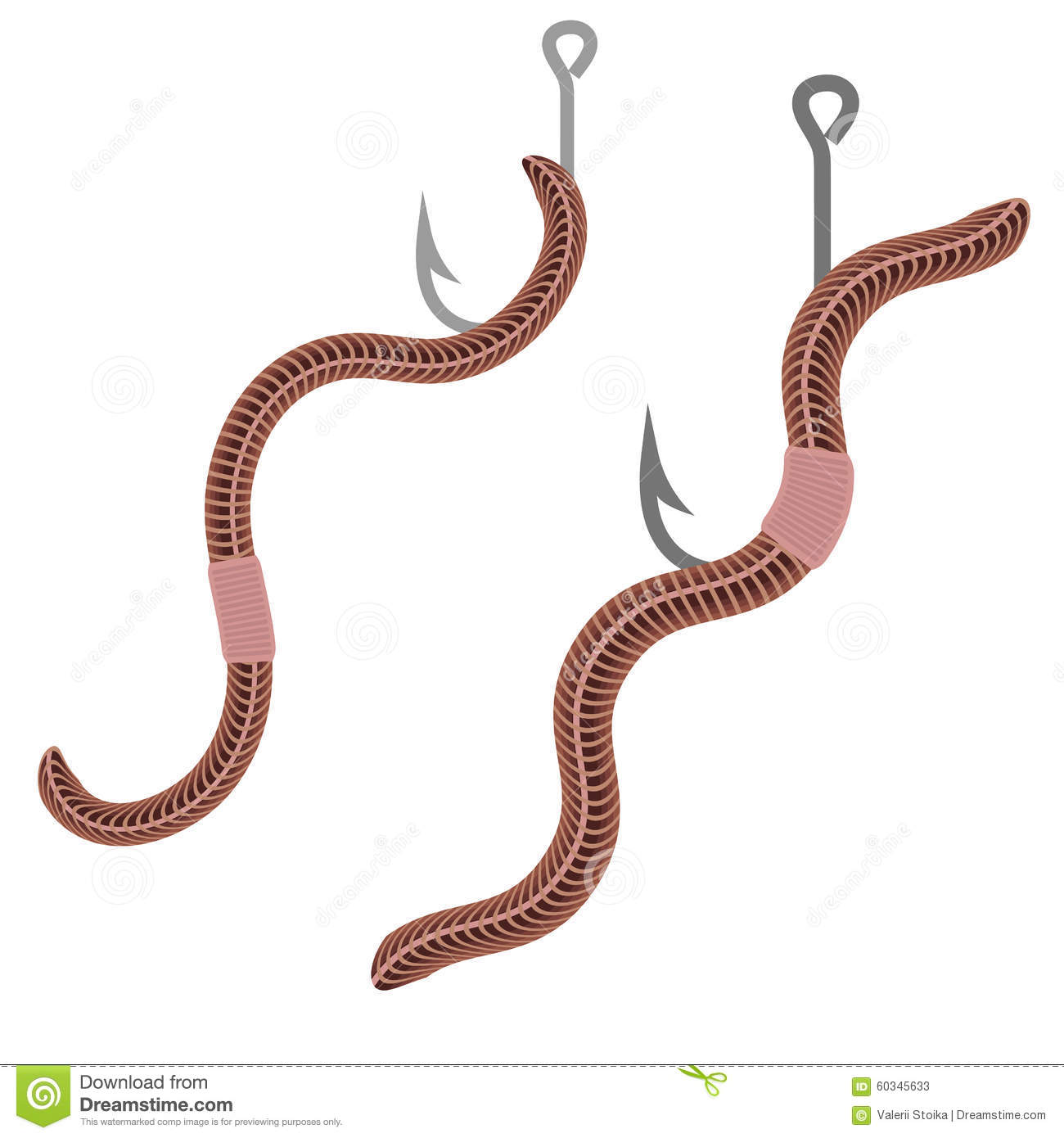 Animal earth red worms for fishing stock vector image for Red worms for fishing