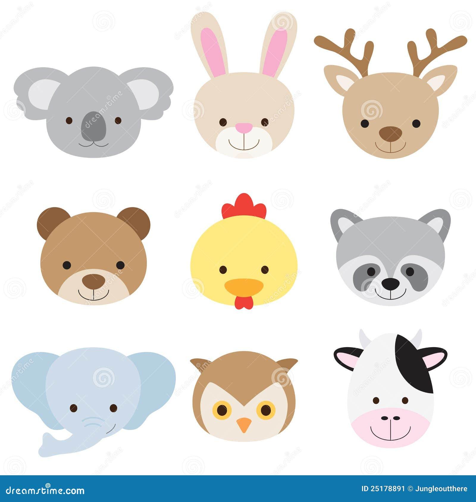 Animal Face Set Stock Image - Image: 25178891 Raccoon Face Clip Art