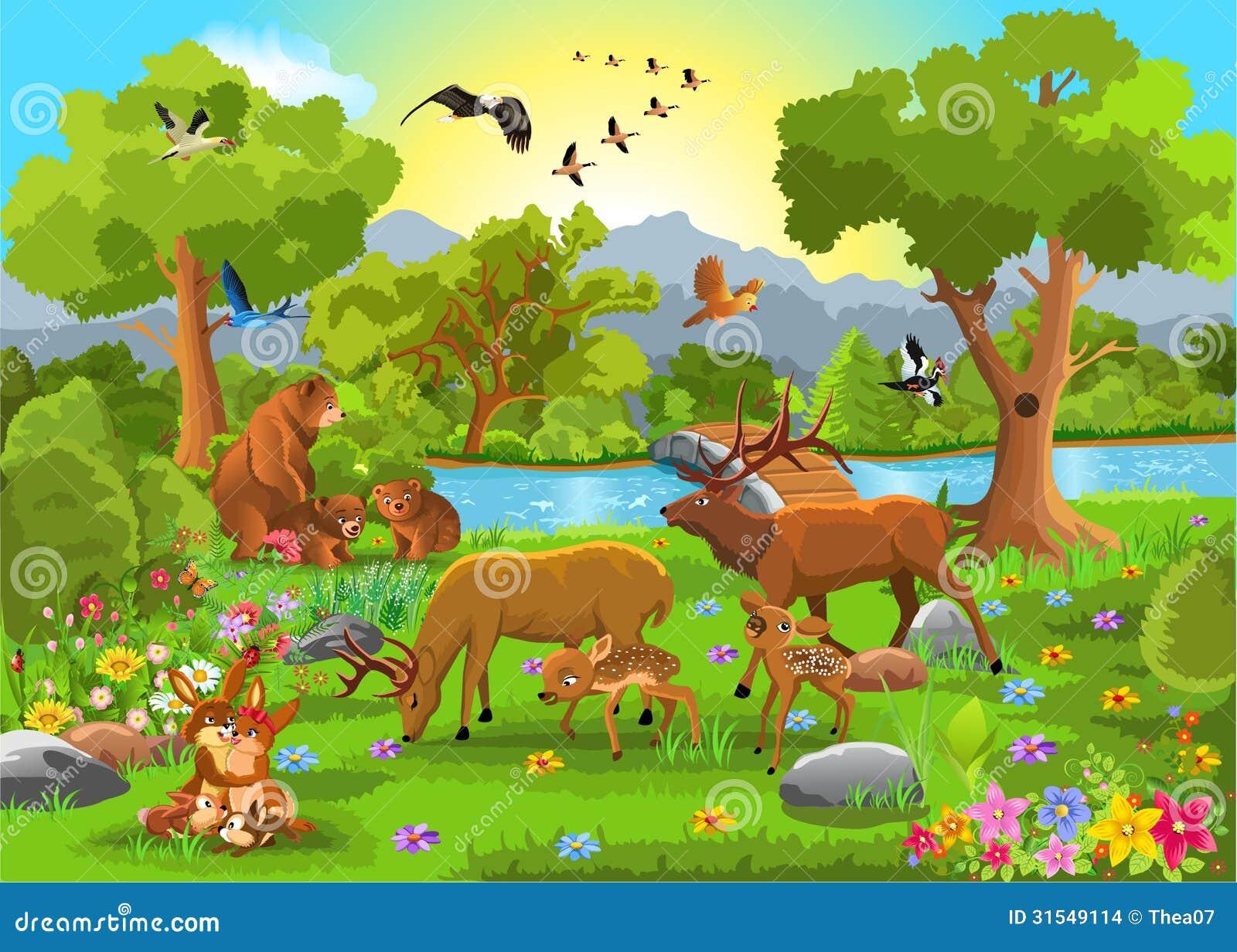 Картинки лесных животных для детей детского сада 5