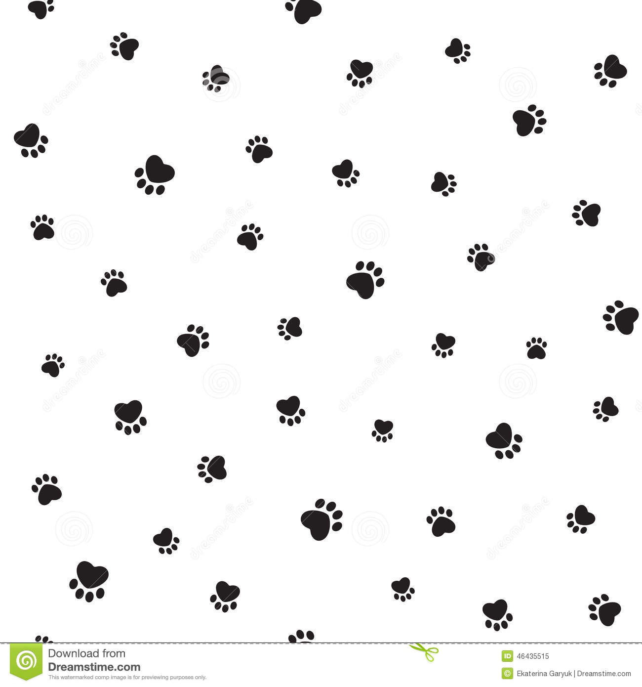 Animal Footprints Background Stock Vector - Image: 46435515
