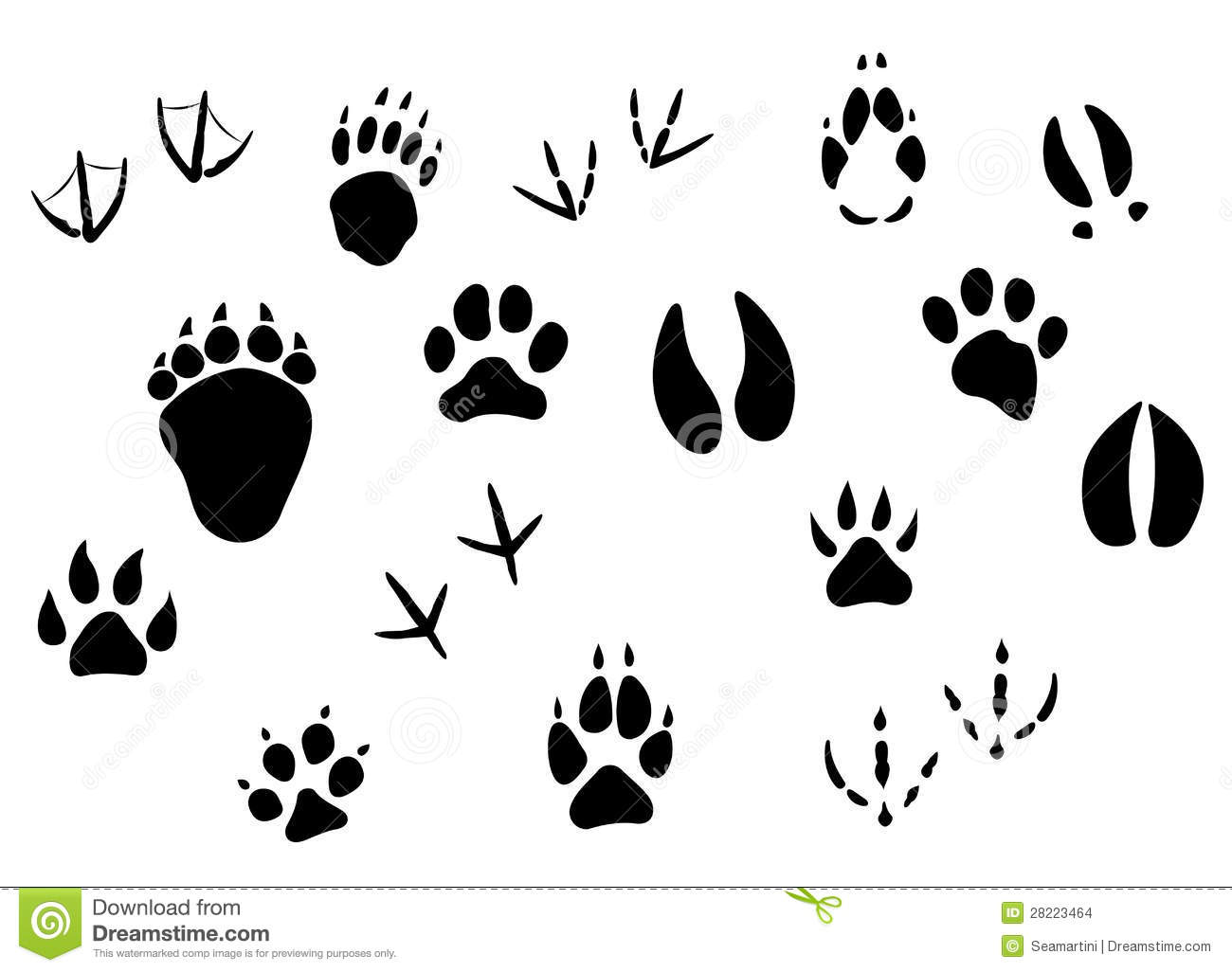 Grungy Animal Footprint Track Icon Stock Vector - Image: 39005680