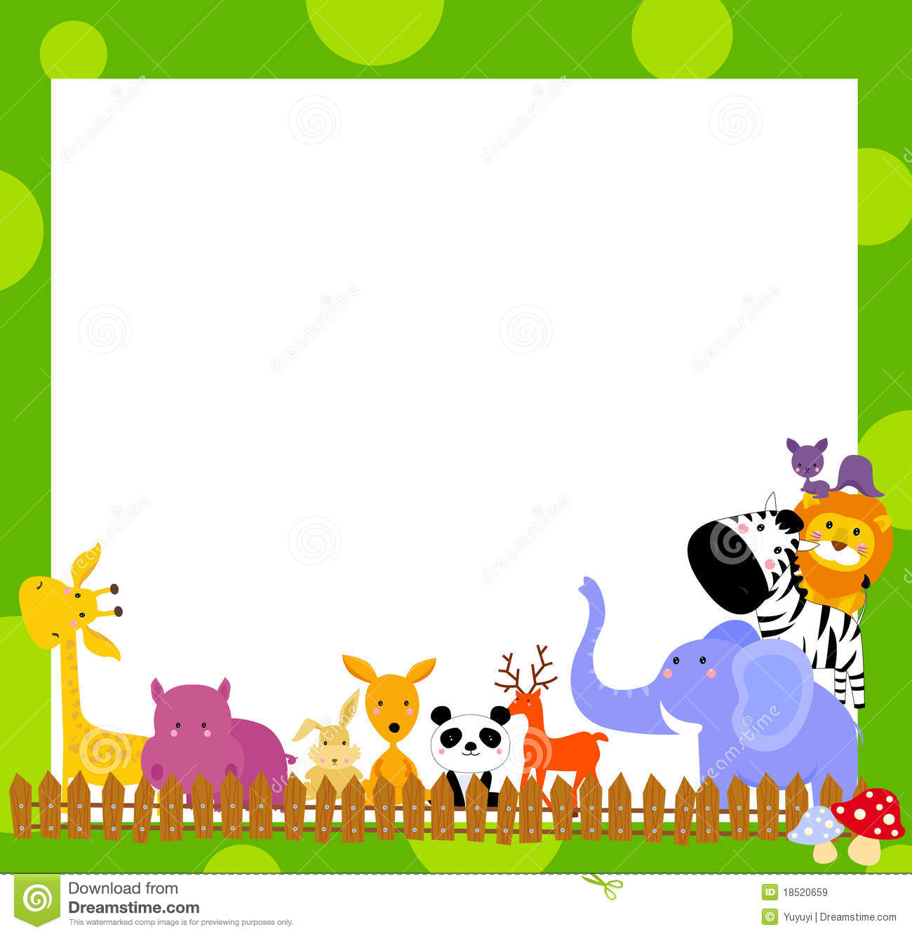 Animal And Frame Stock Vector Illustration Of Animal