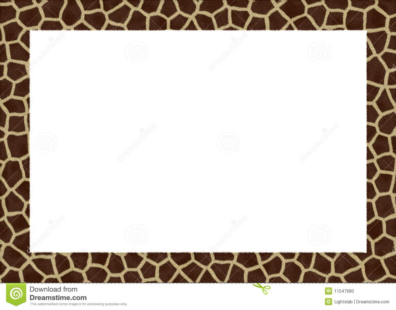 Animal Fur Abstract Foto Frame Stock Illustration