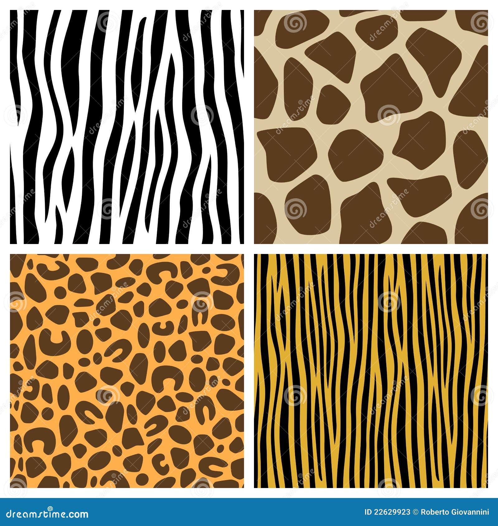 Download Animal Fur Seamless Patterns Stock Vector - Illustration of giraffe, camouflage: 22629923
