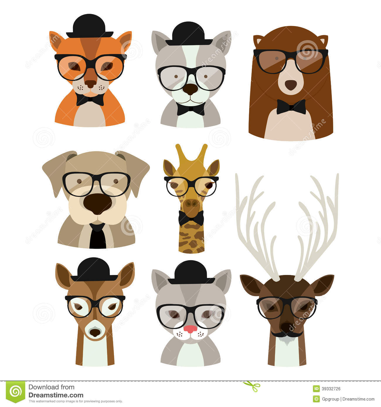 Animal hipster design stock vector. Illustration of deer ...