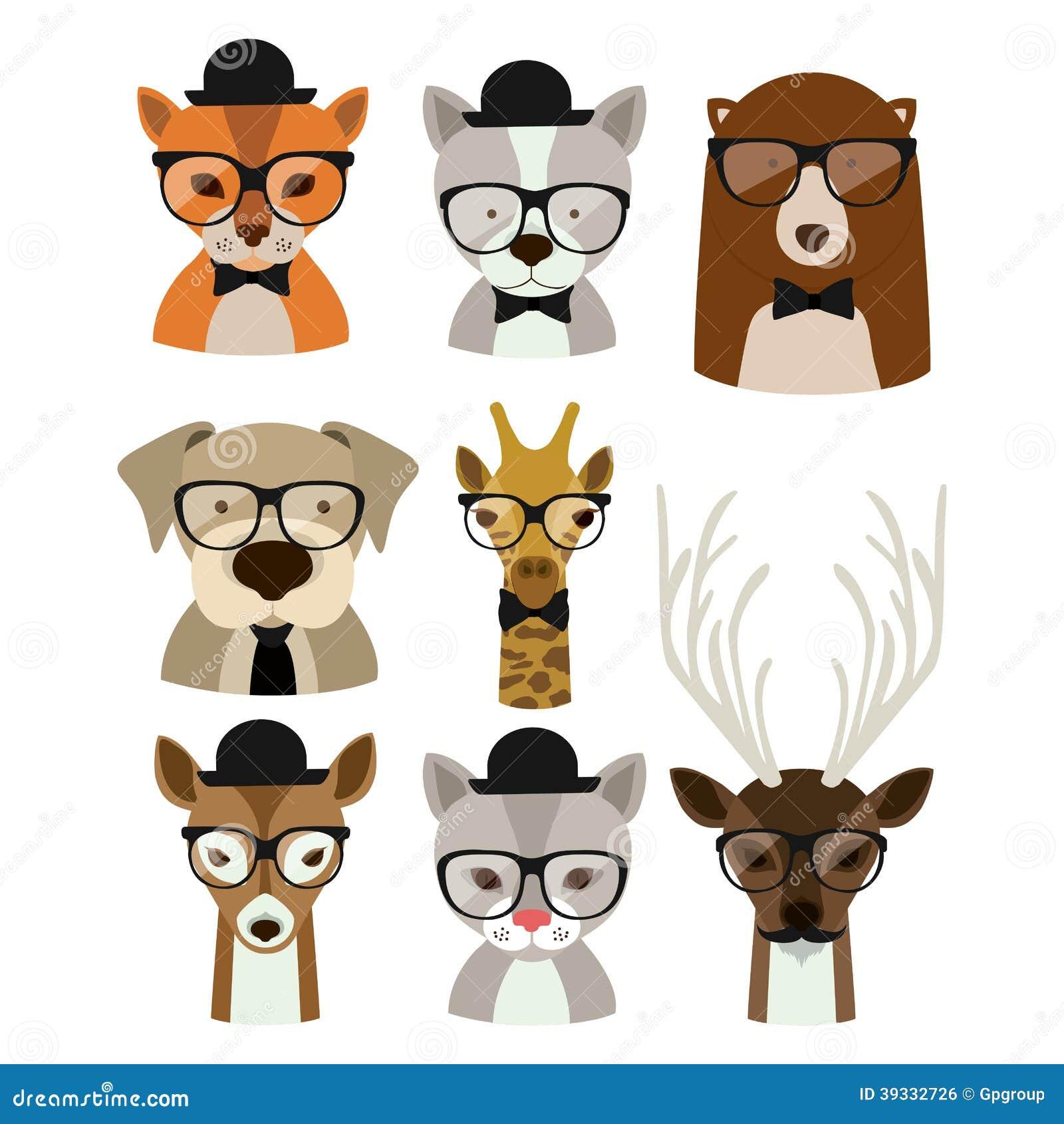 Animal hipster design over background,vector illustration.
