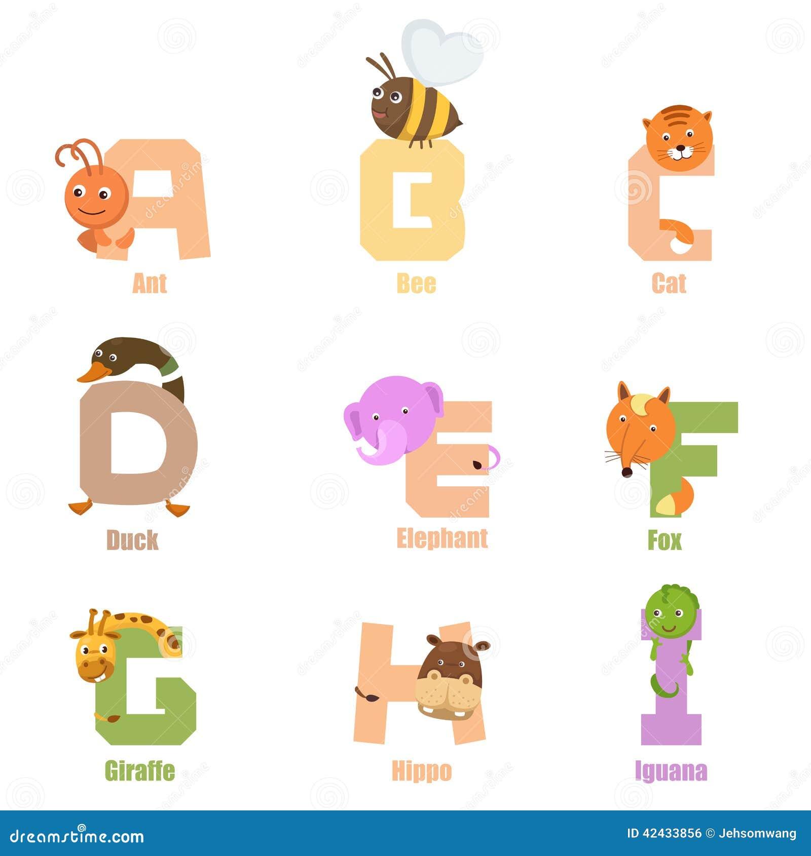 Animal A-I del alfabeto