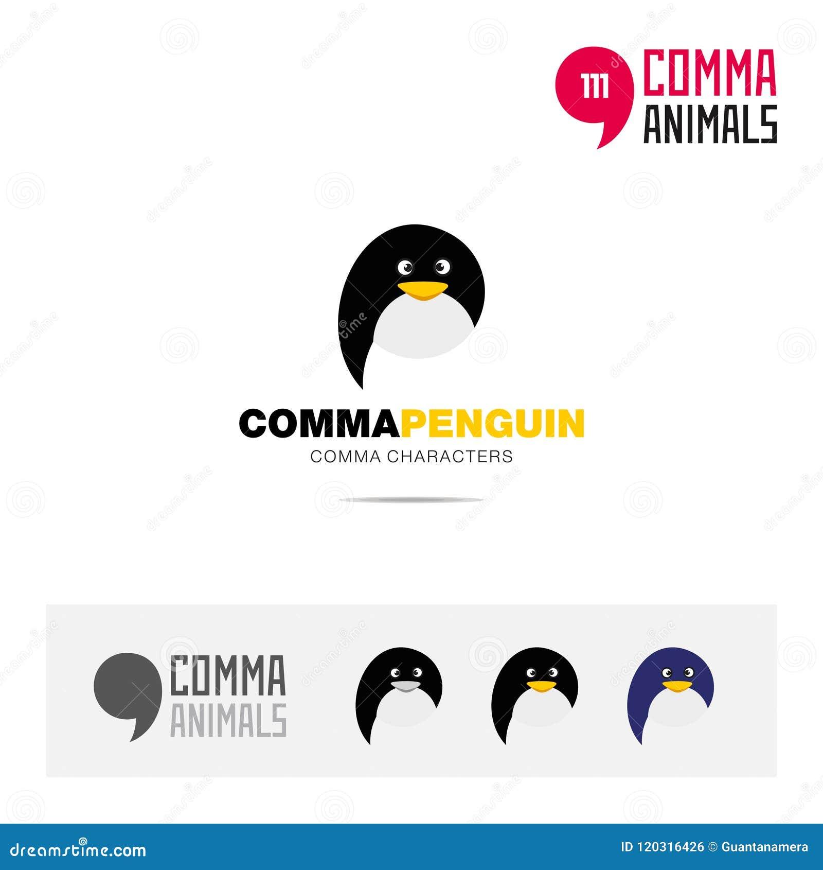 Penguin Animal Concept Icon Set And Modern Brand Identity Logo