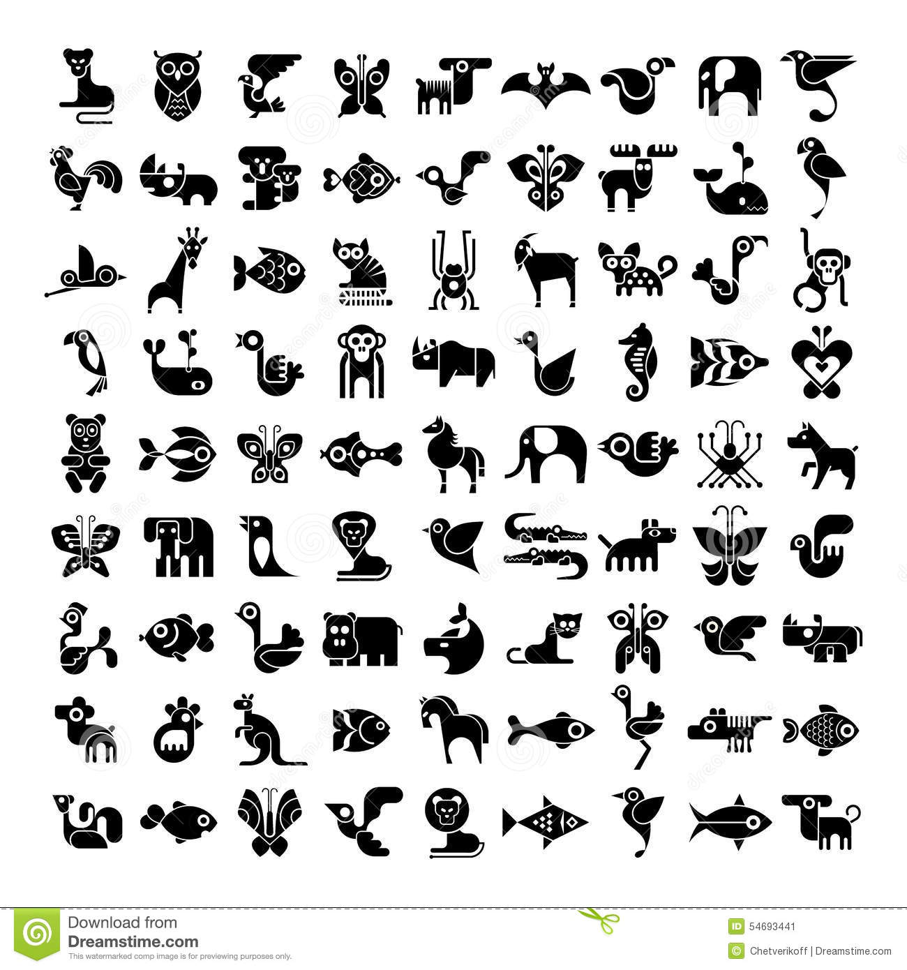 Animal Icons Stock Vector - Image: 54693441
