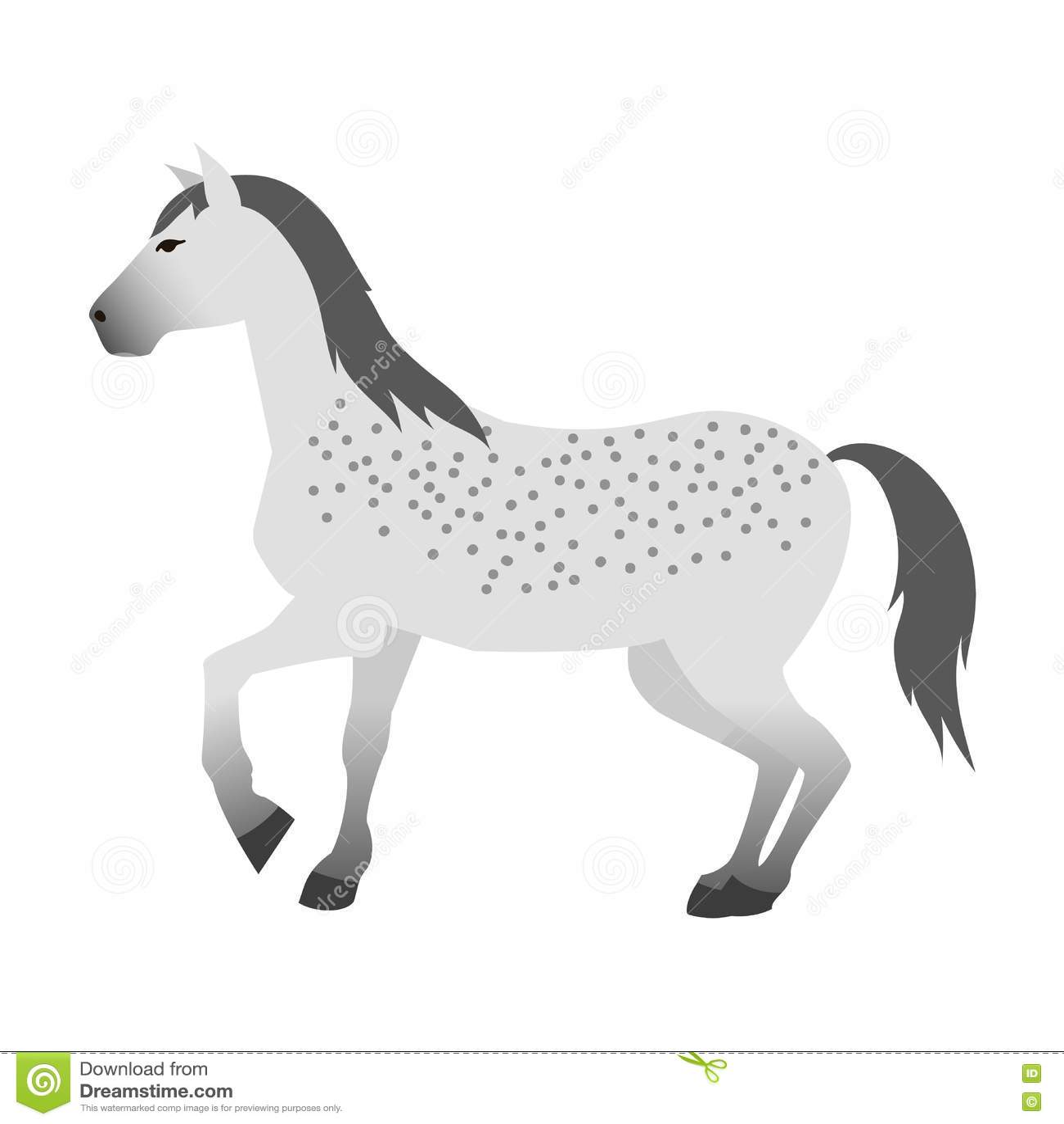 Animal isolado vetor do cavalo