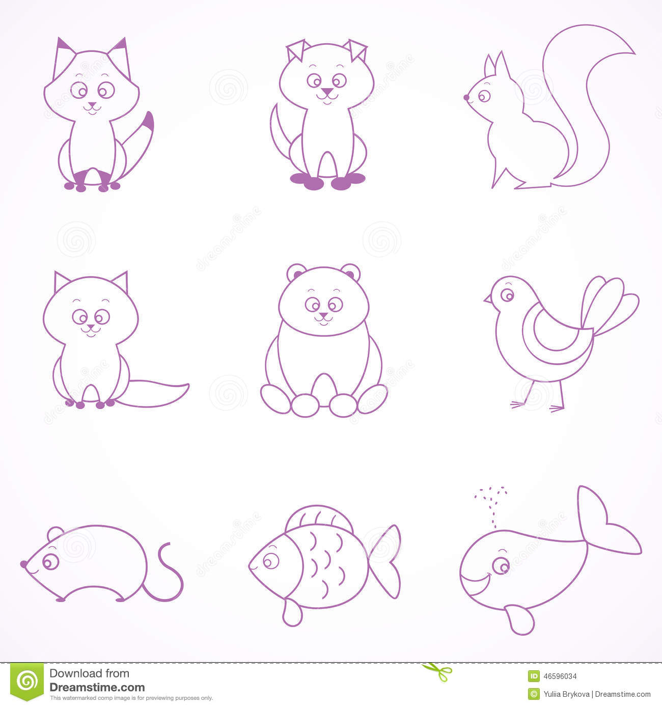 Line Drawing Pet Animals : Animal lines stock vector image