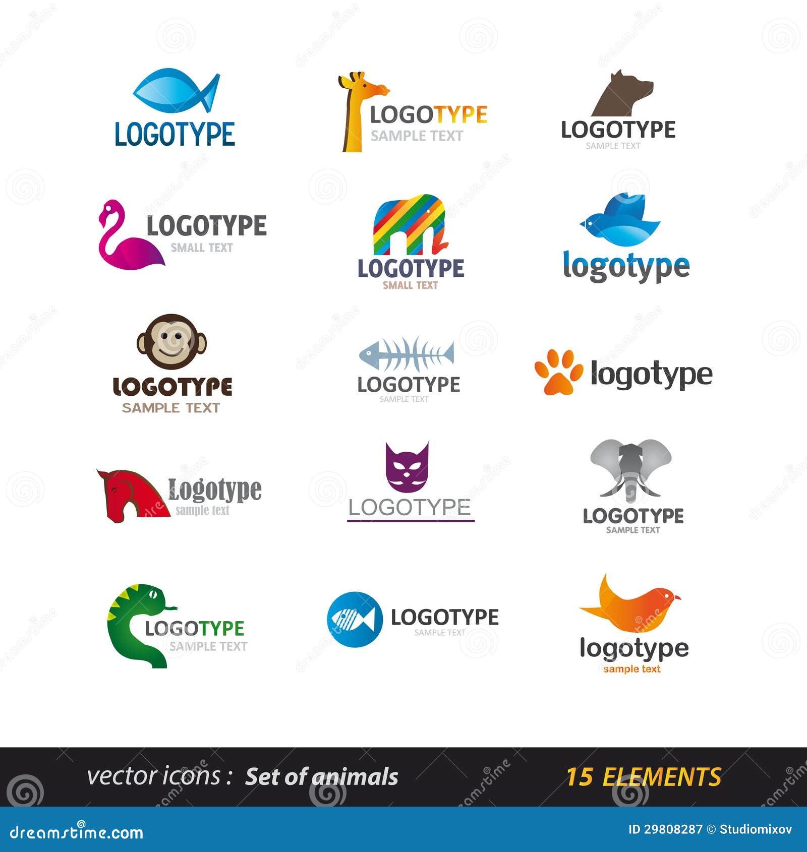 Animal Logo Set Royalty Free Stock Photography Image