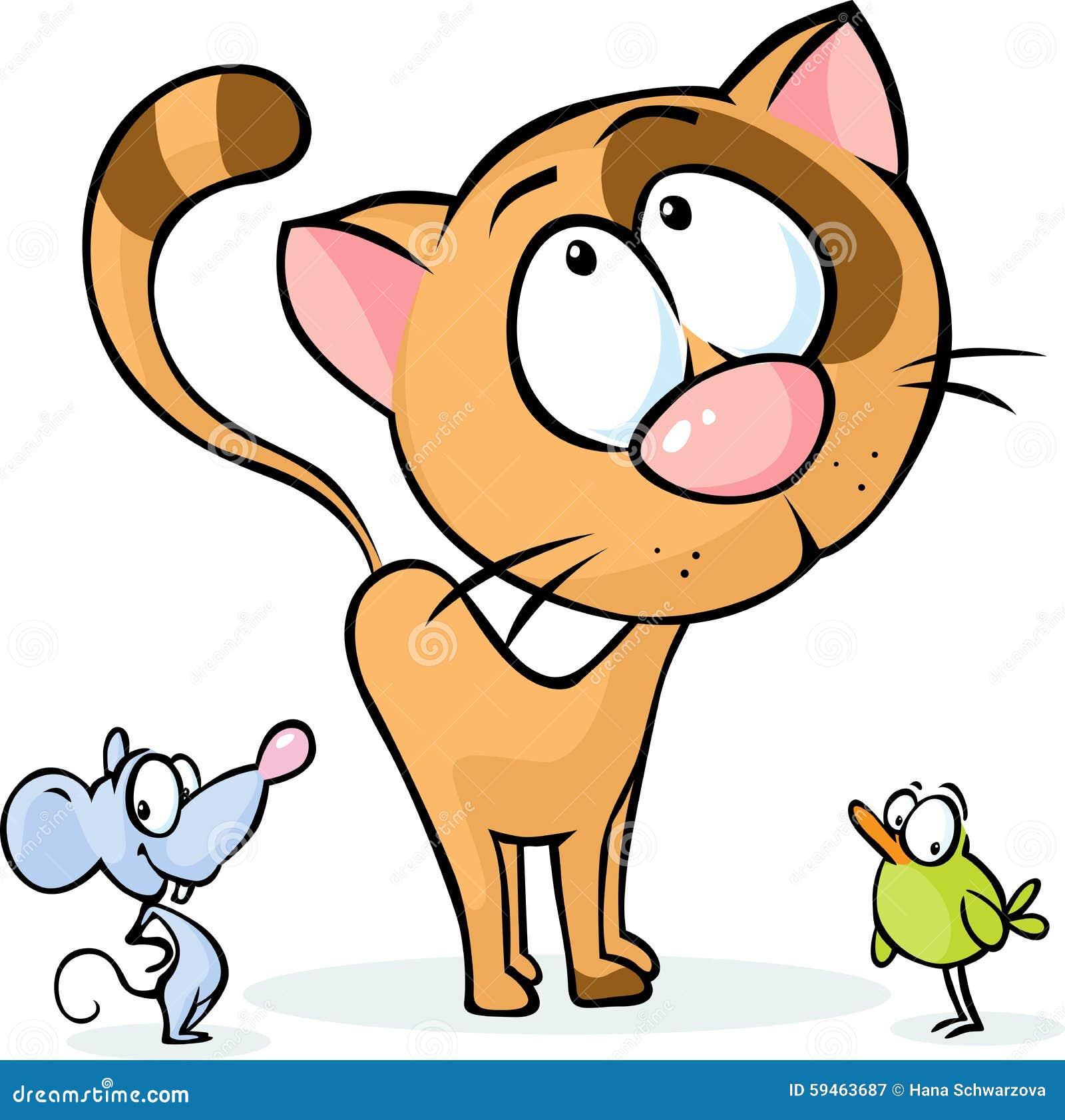 Animal mignon de vecteur bande dessin e de chat de - Animal mignon ...