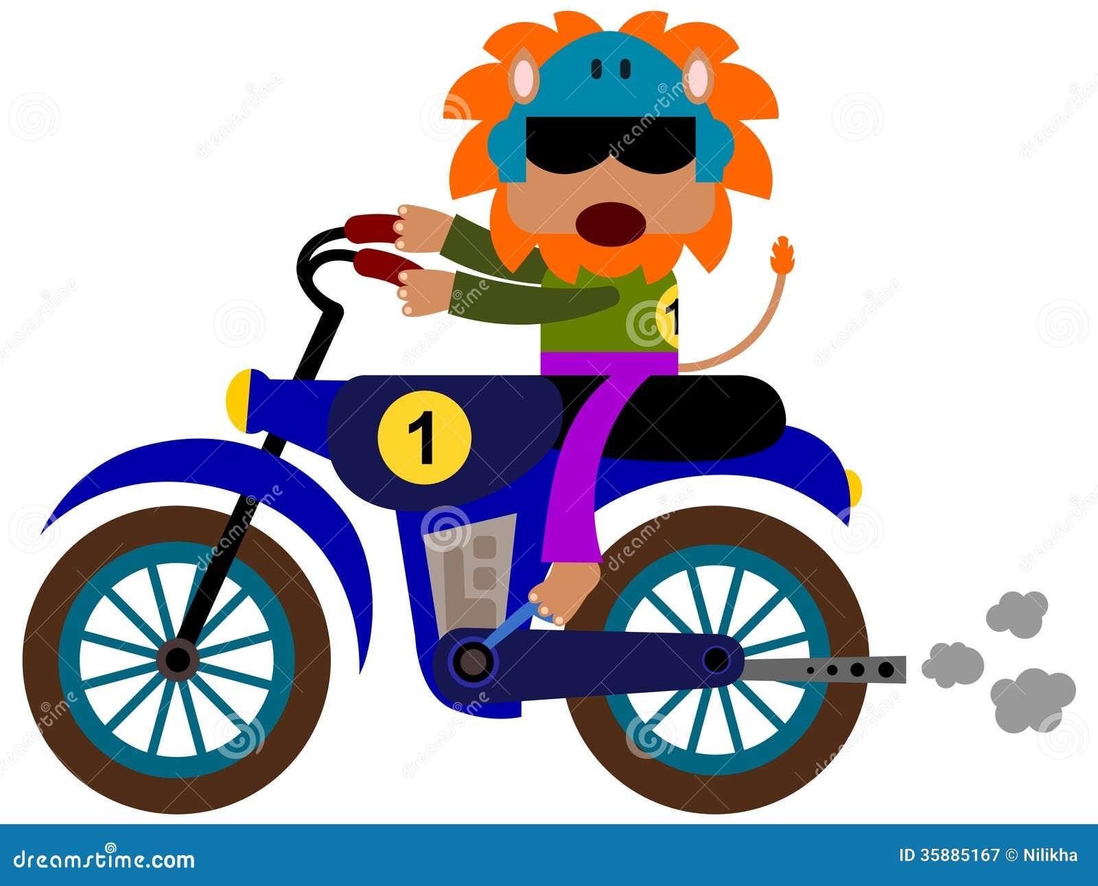 Animal Motocross Stock Illustration Illustration Of Speed 35885167