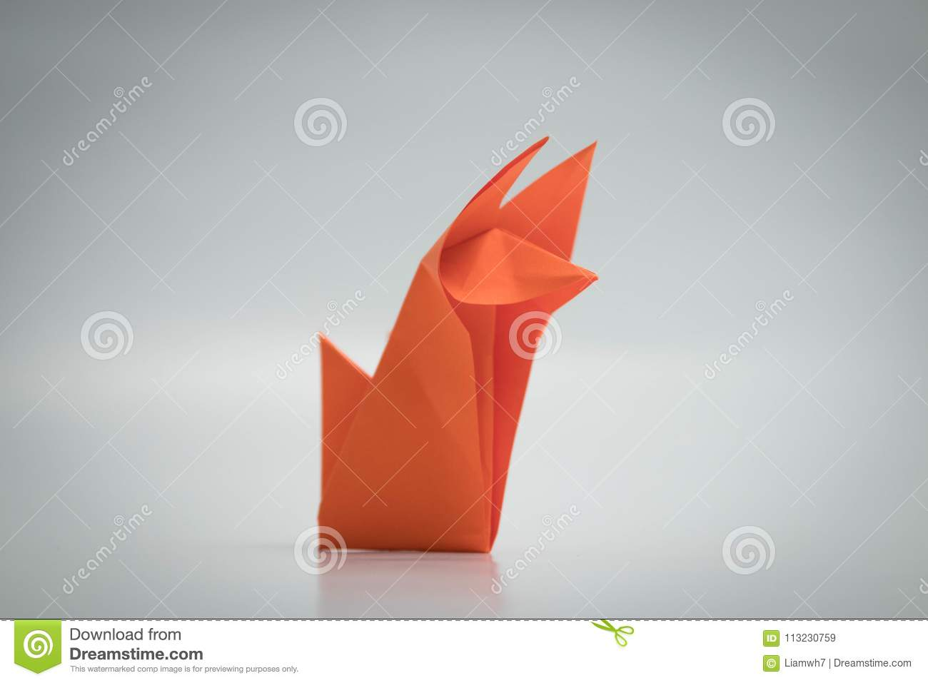 Origami Orange Diagram Wiring Services Advanced Fox Instructions Animal Paper Stock Image Of Hobby Rh Dreamstime Com Complex Diagrams Crane